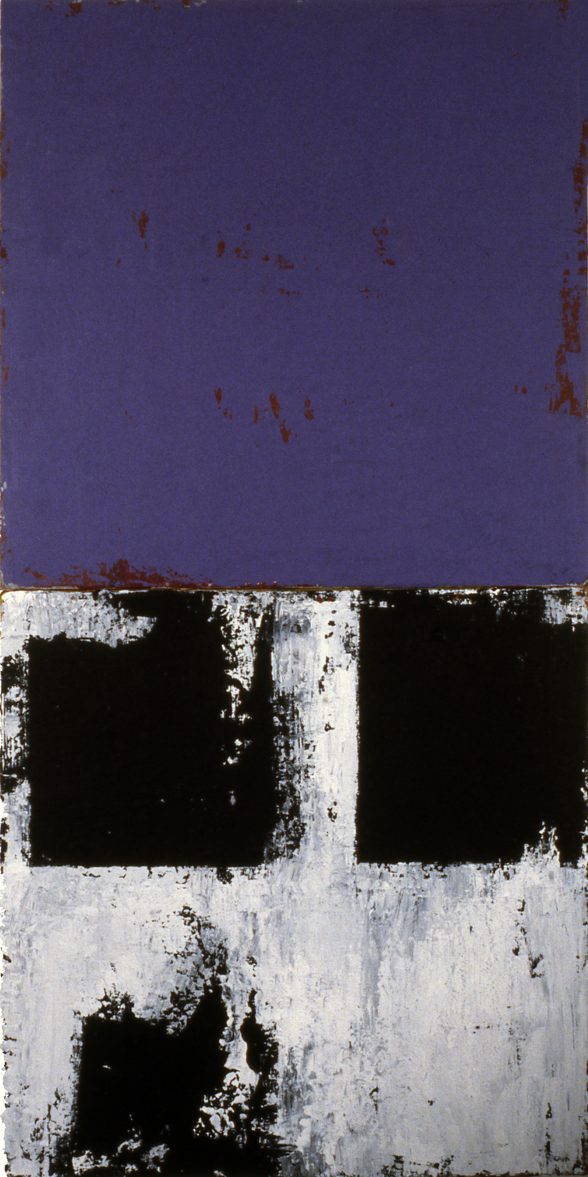 Quattro, 1991, Acrylic on canvas over panels, 24 x 12 inches.