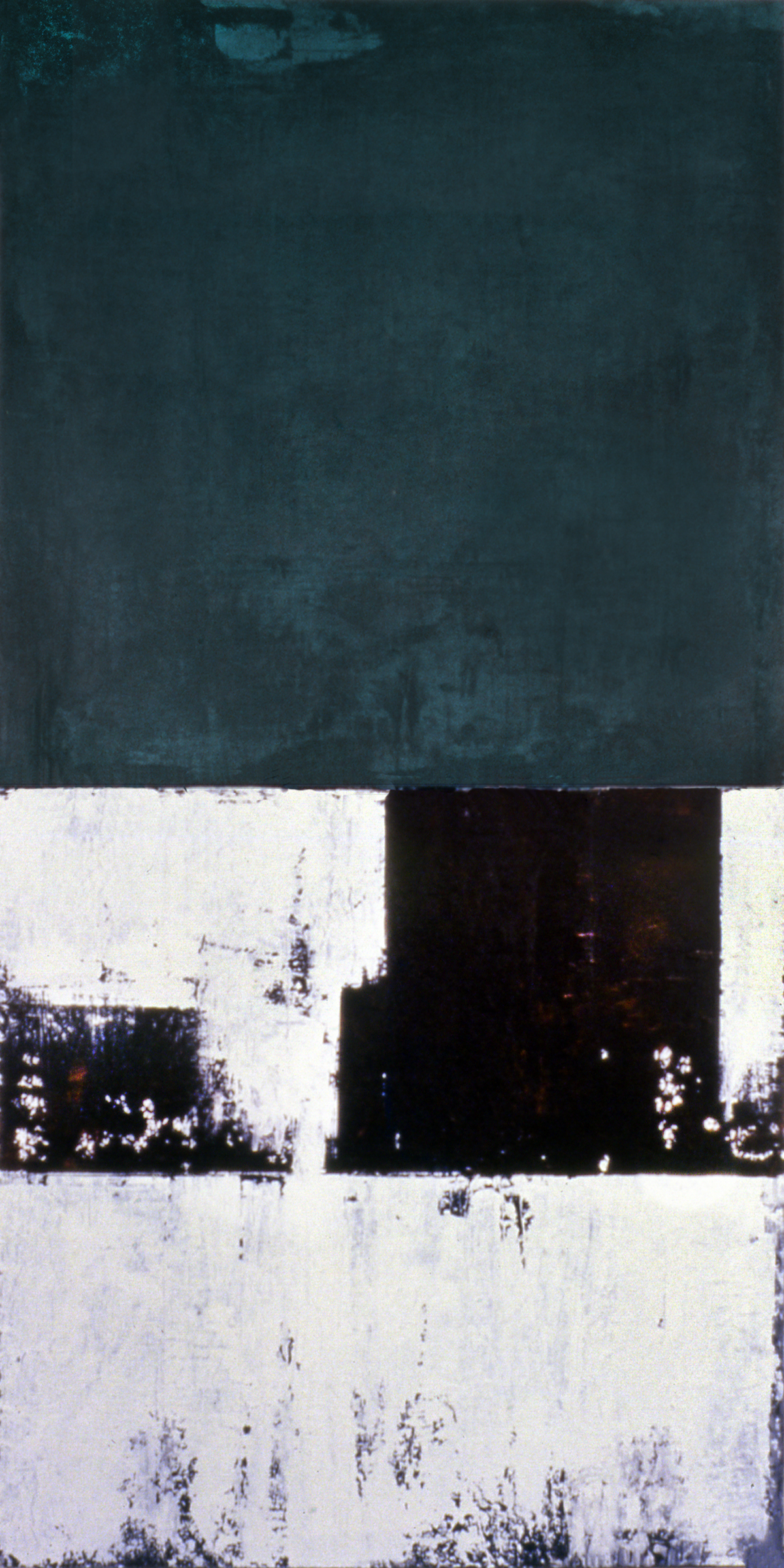 Island, 1991, Acrylic on canvas over panels, 72x 36 inches.