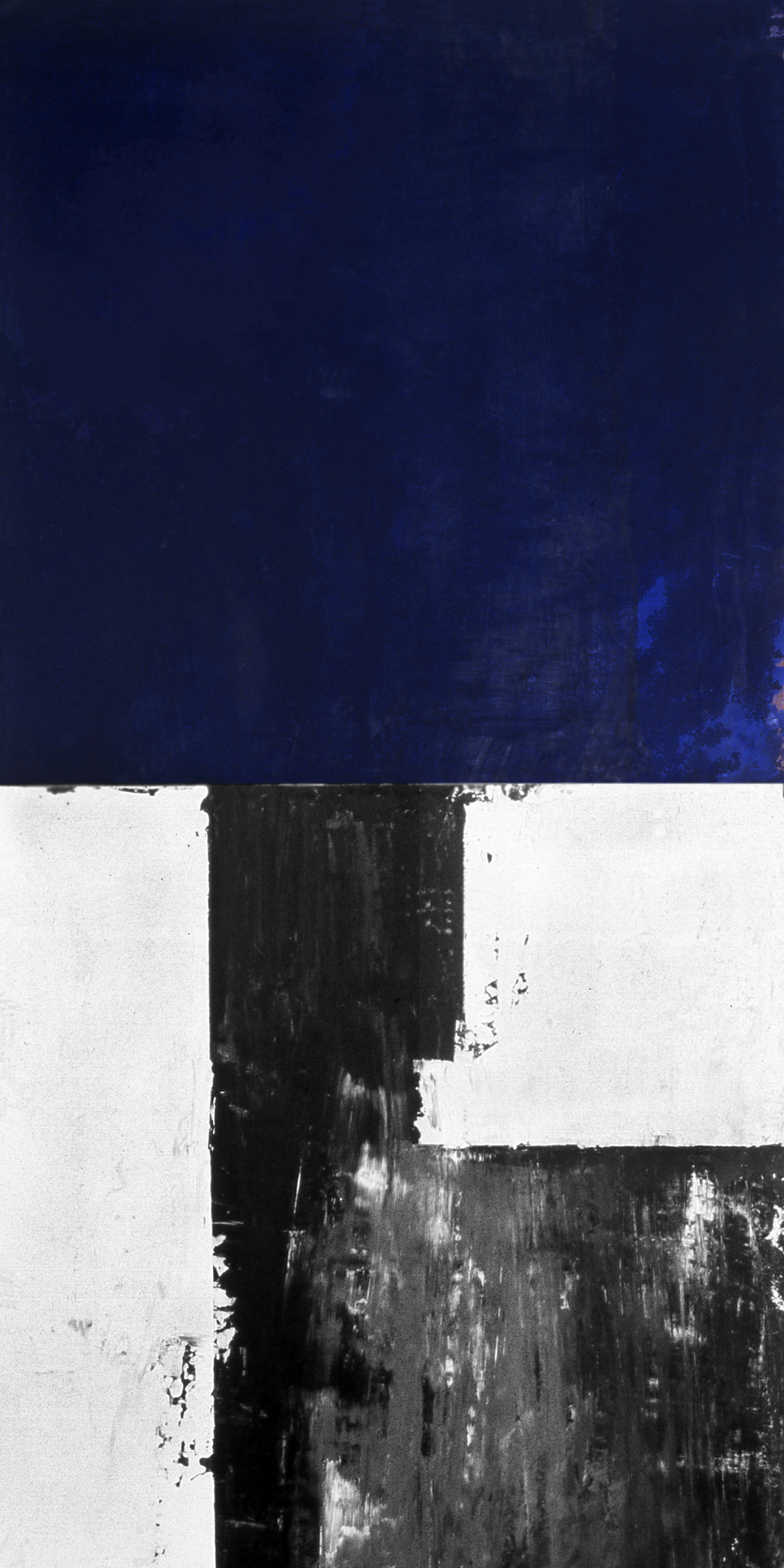 Blockade, 1991, Acrylic on canvas over panels, 48 x 24 inches.