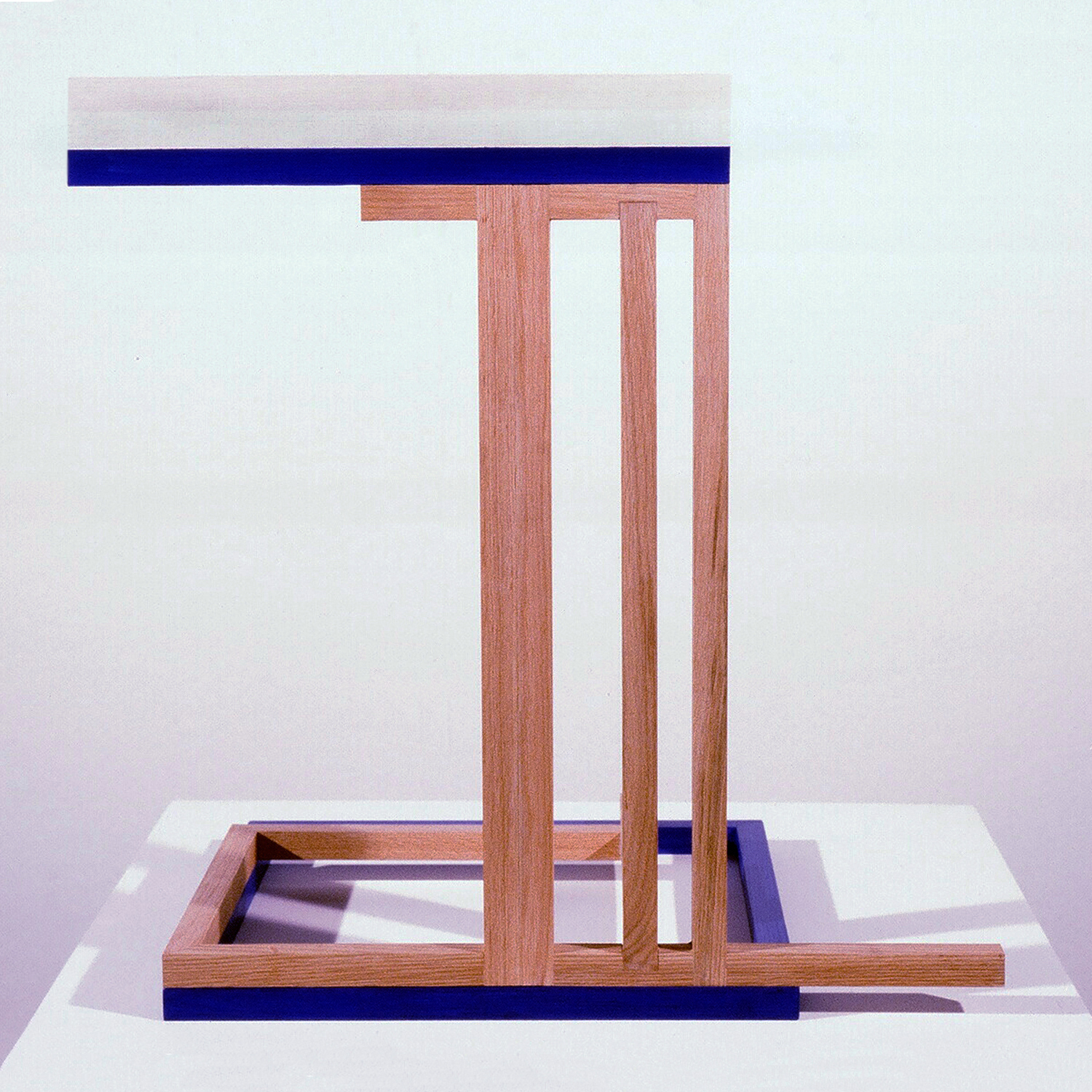 Rise and Fall,  1983, Oak wood, acrylic paint, 20 x 20 x 13.5 inches.