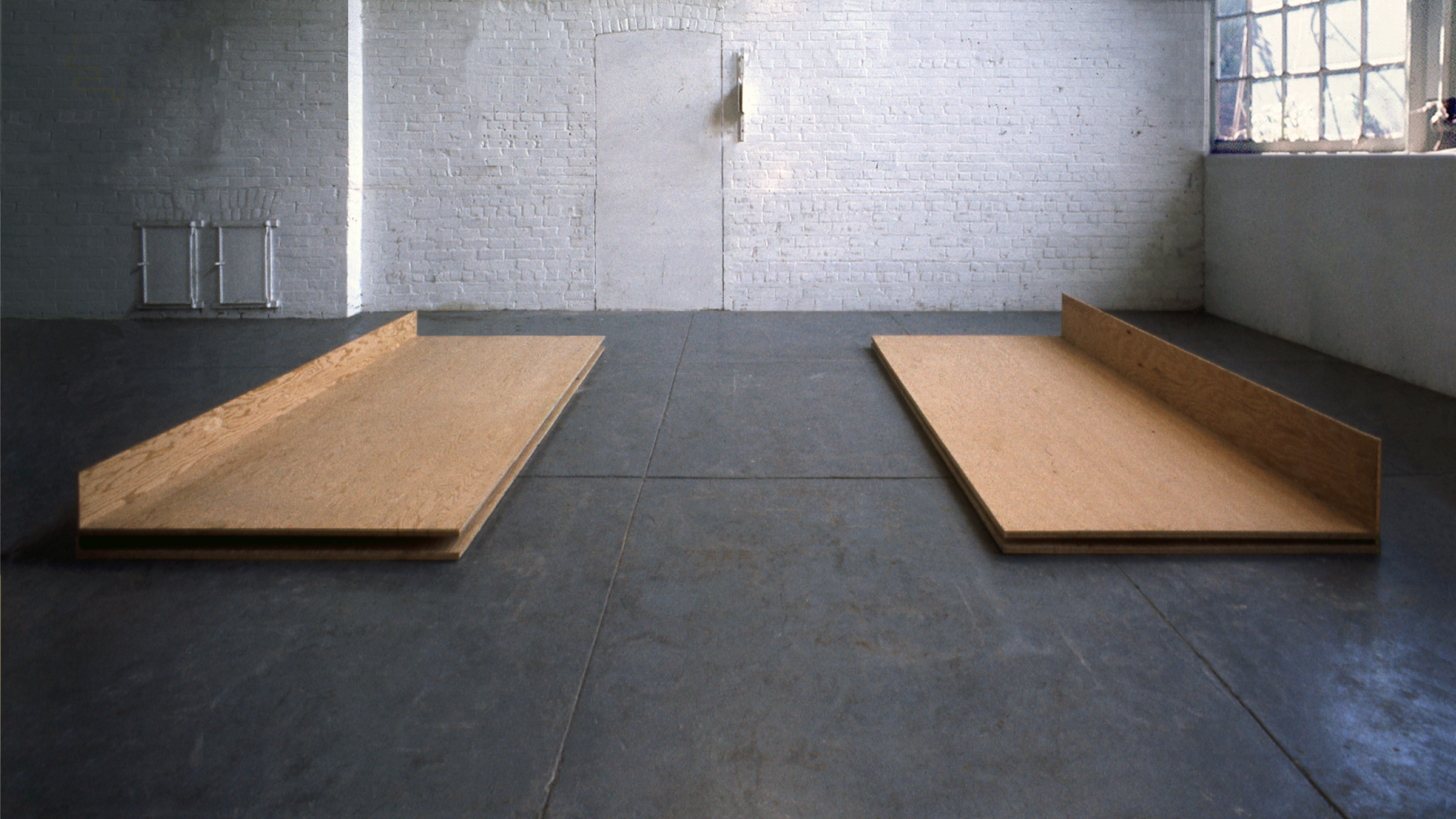 1975, Plywood, 12 x 144 x 96 inches.