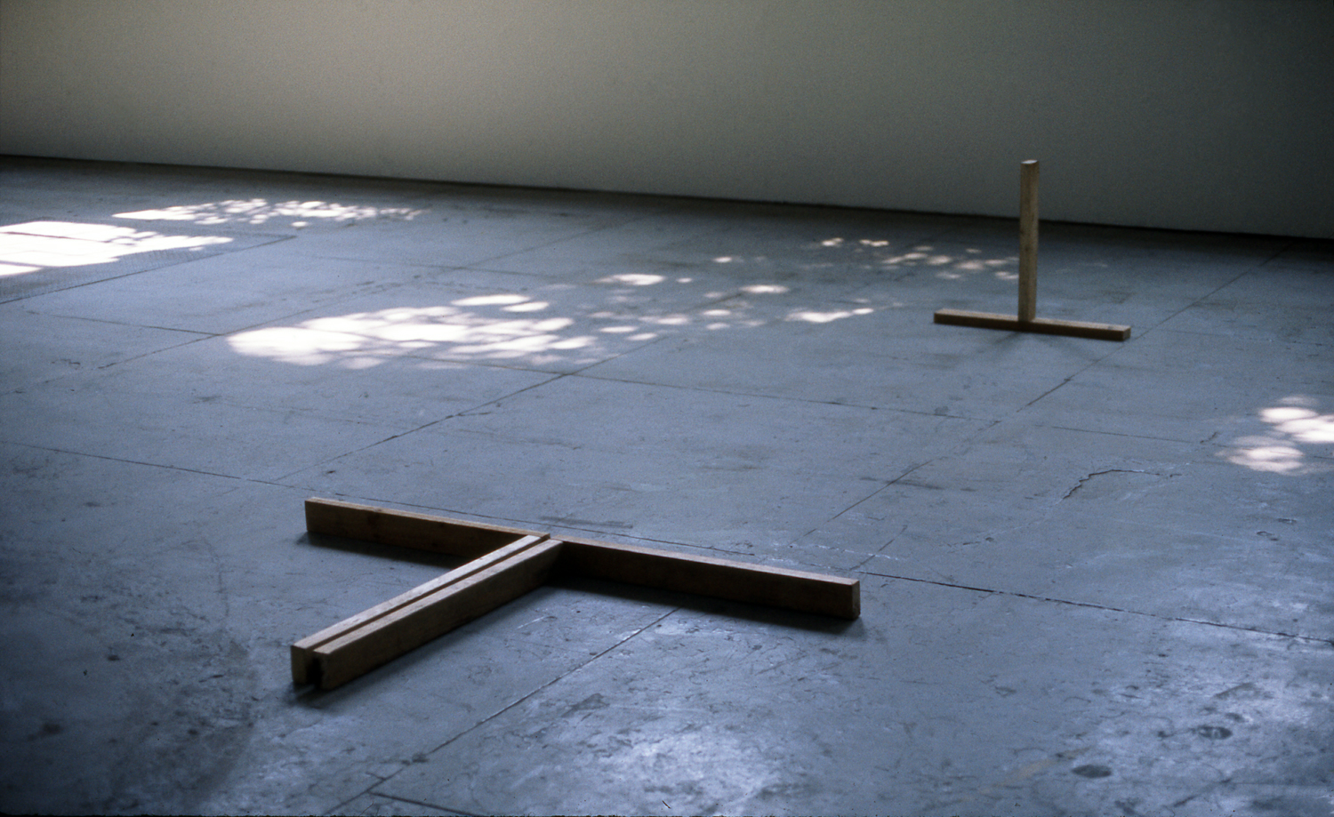 1974, Pine Wood, 24 x 156 x 73 inches.