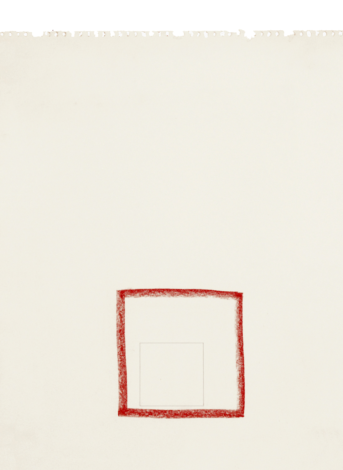 Drawing: 1979, Conté crayon, pencil on Vellum paper, 14 x 11 inches.