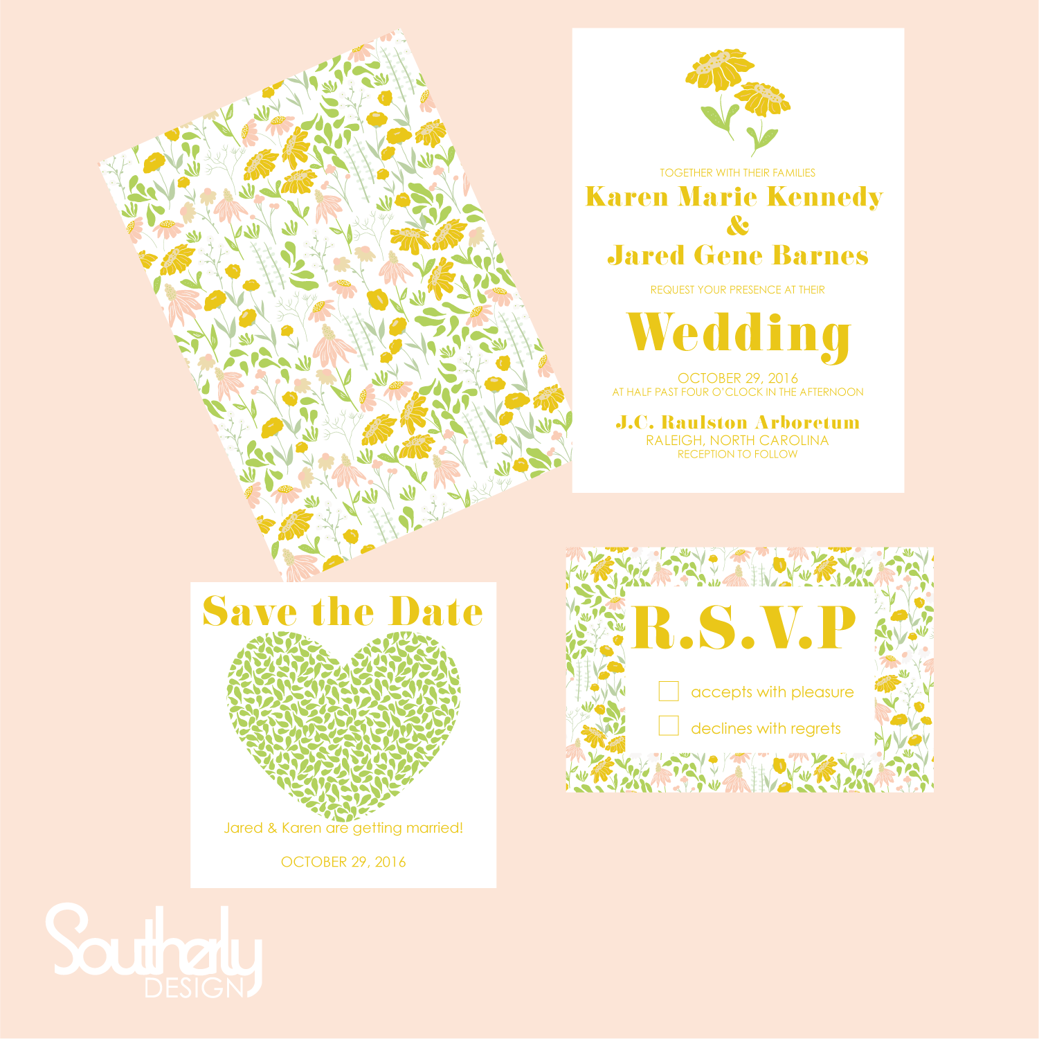 FLoral Meadow Wedding Invitation Collection