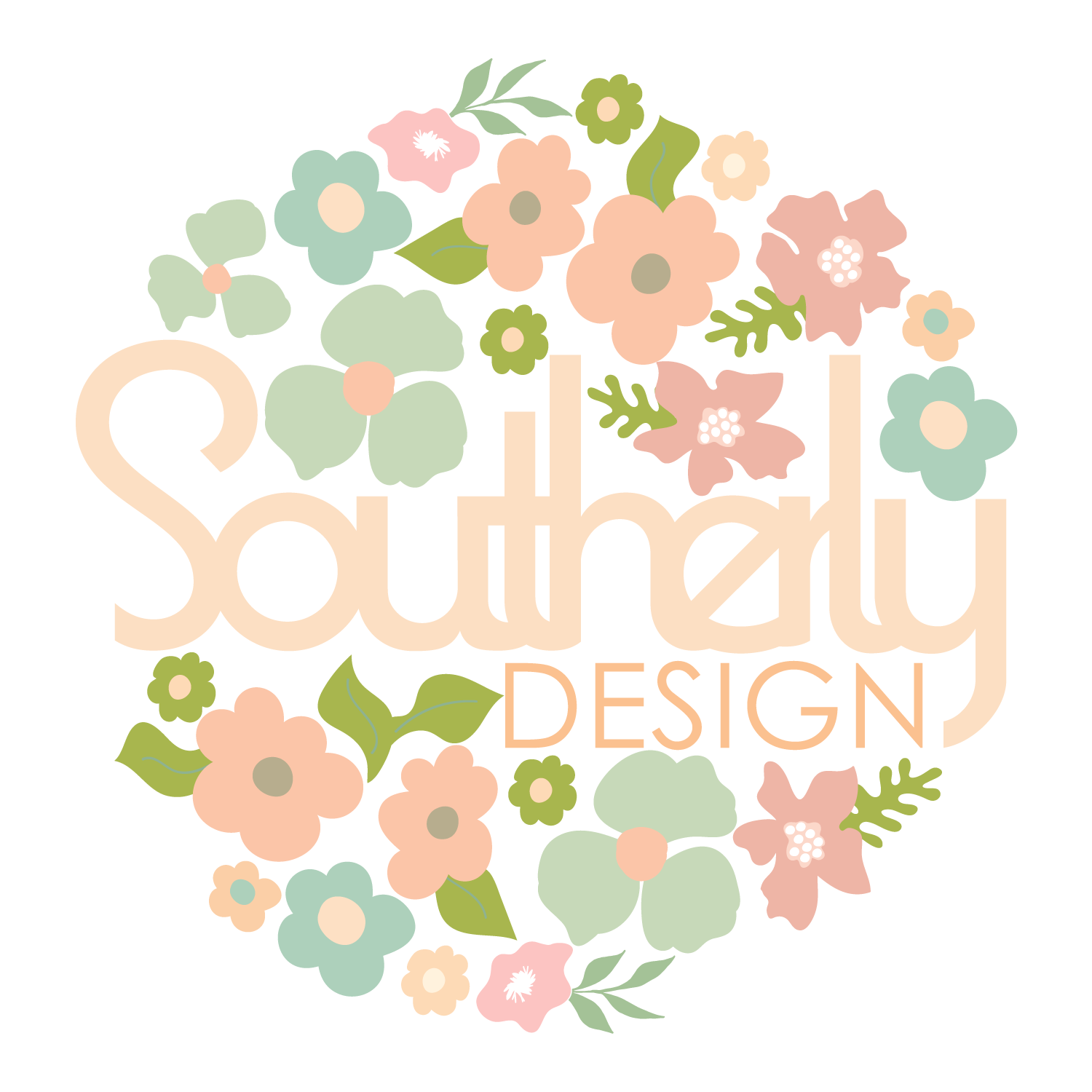 Logo 2 with colorful flowers