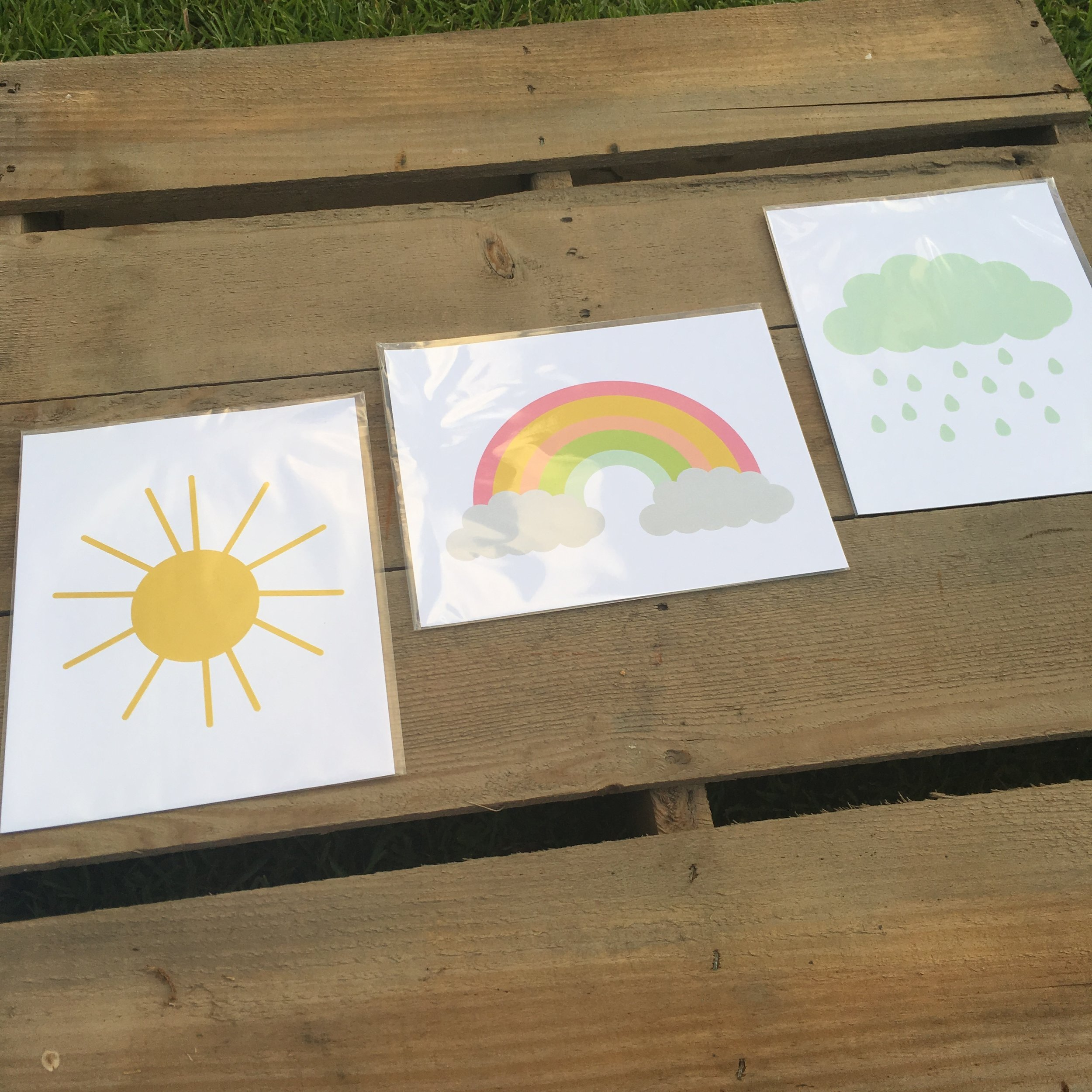 8x10 Prints of Sun, Cloud, and Rainbow