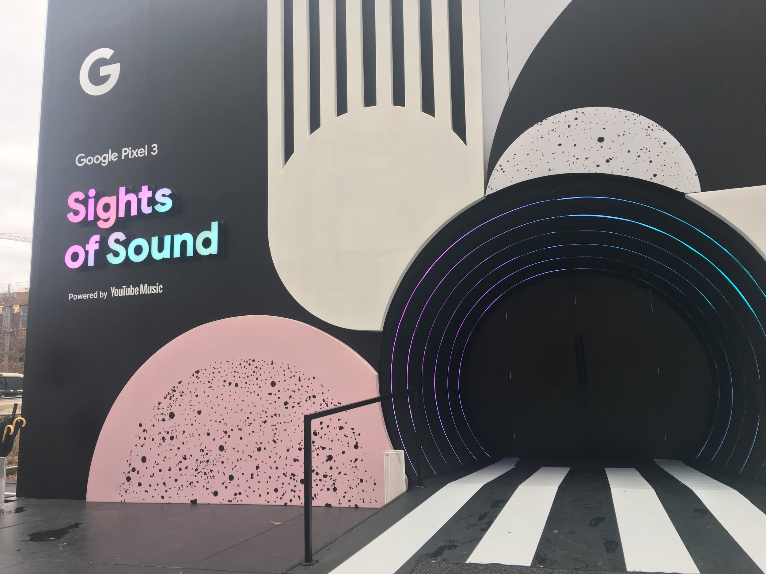 google sights of sound pixel 3 building Atlanta