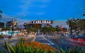 CARLSBAD  - village treelined street with ocean breezes, beach bike rentals, breweries and shops