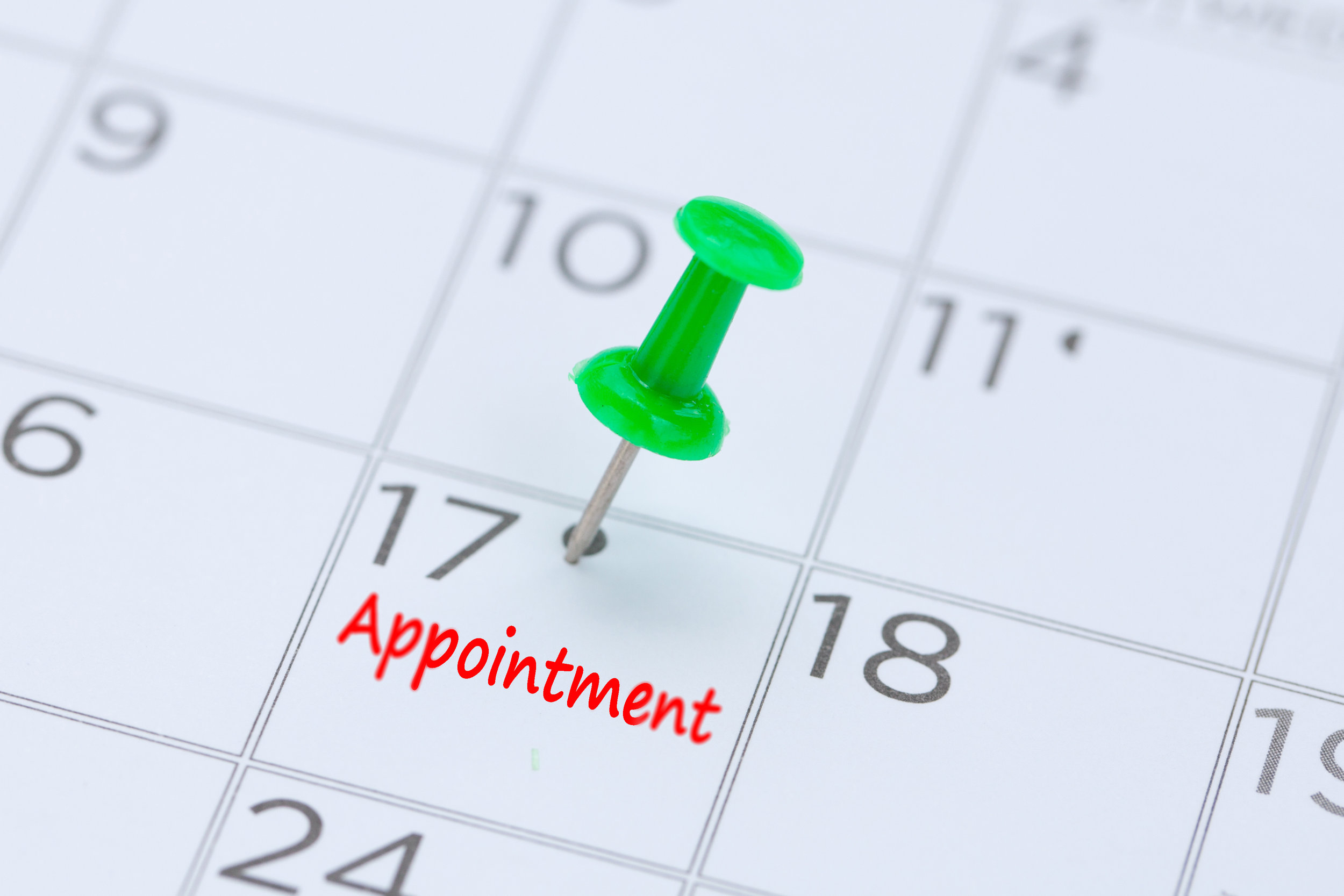 Schedule or Change an Appointment  - Weekend appointments available