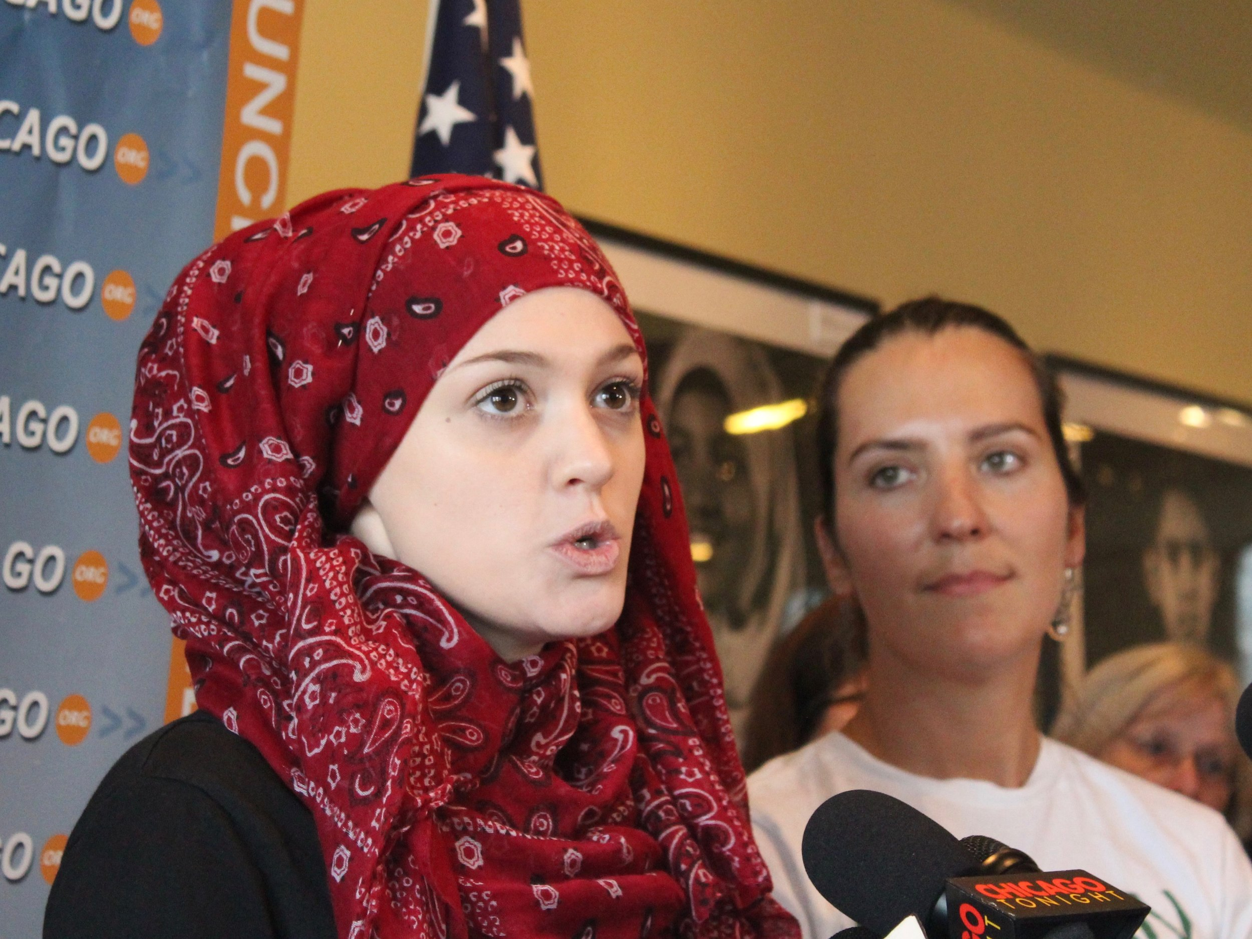 Amal Kassir says the travel ban has kept her relatives from fleeing battle-torn Syria for the United States. (One Illinois/Ted Cox)