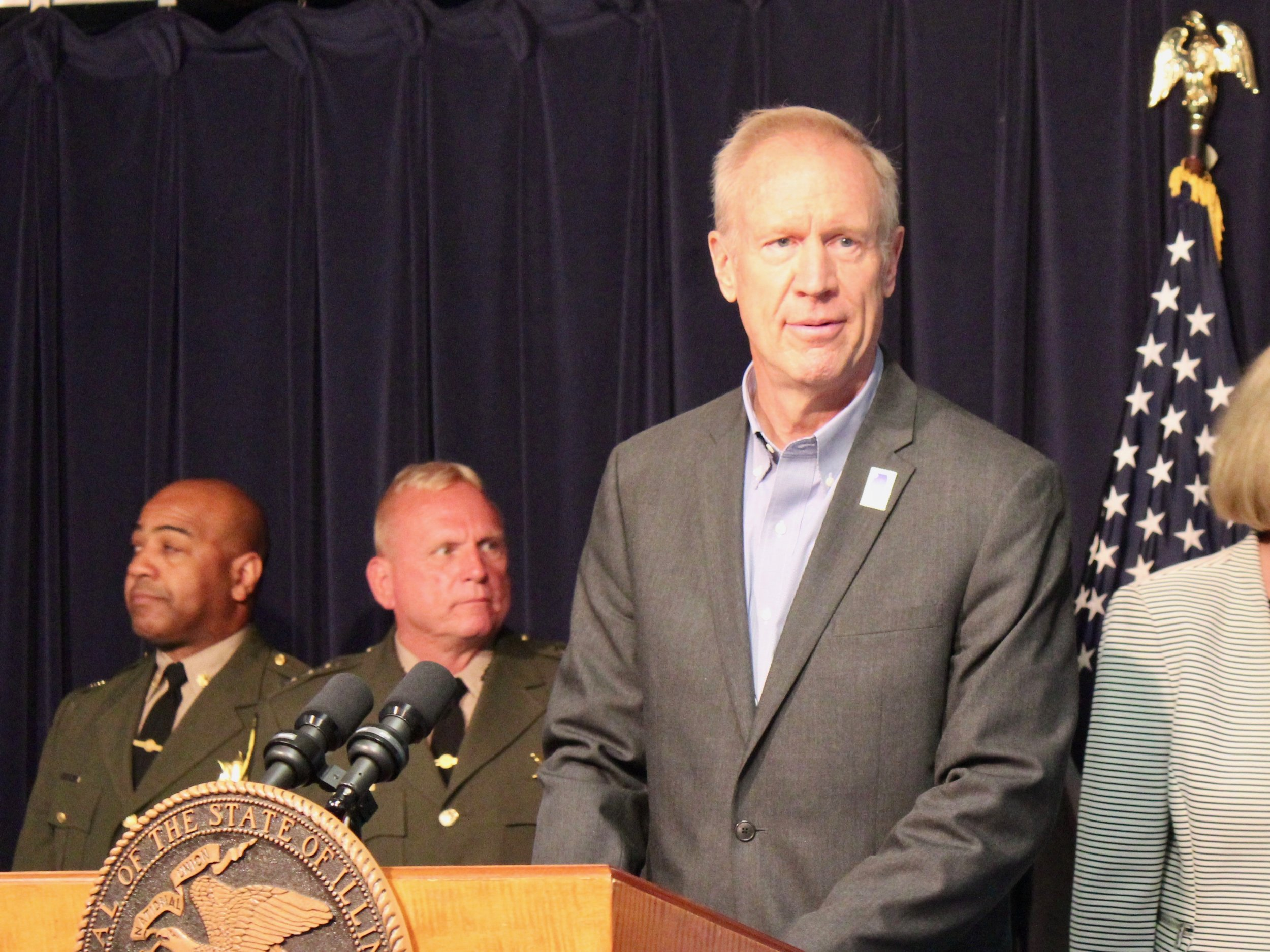 """""""We want to make sure there is no election tampering and no election fraud,"""" says Gov. Rauner. (One Illinois/Ted Cox)"""