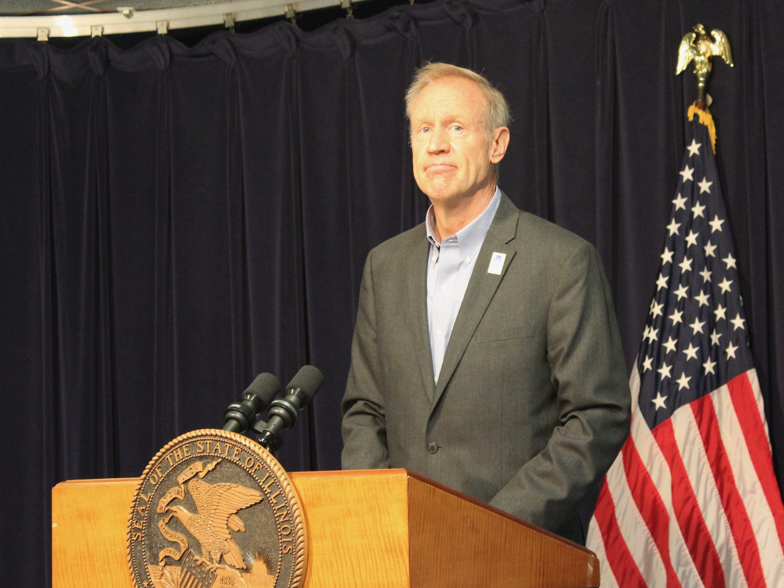Gov. Bruce Rauner vetoed a bill that would have called on the state to withdraw from a controversial interstate voter-registration program. (One Illinois/Ted Cox)