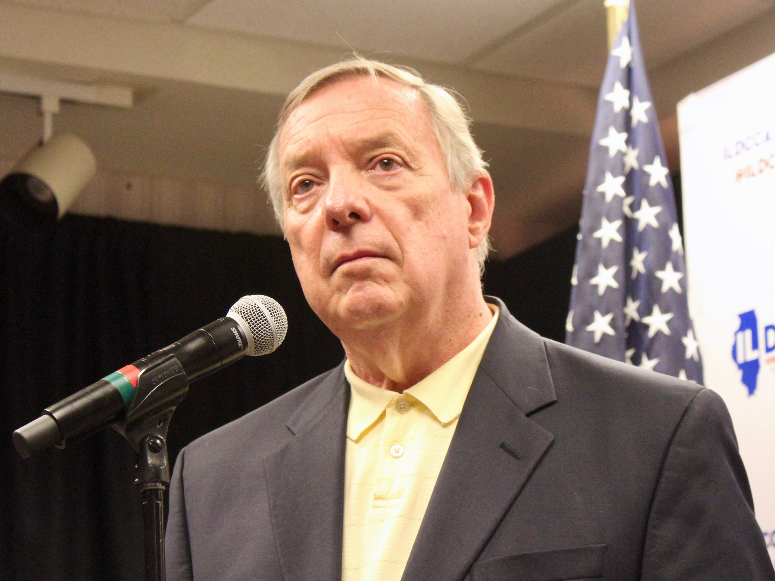 —Sen. Dick Durbin says he has to reassure constituents that things will be OK given the turbulence of the Trump administration. (One Illinois/Ted Cox)