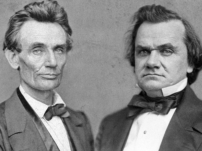 Abraham Lincoln and Stephen Douglas squared off in a series of seven historic debates in their 1858 U.S. Senate race.