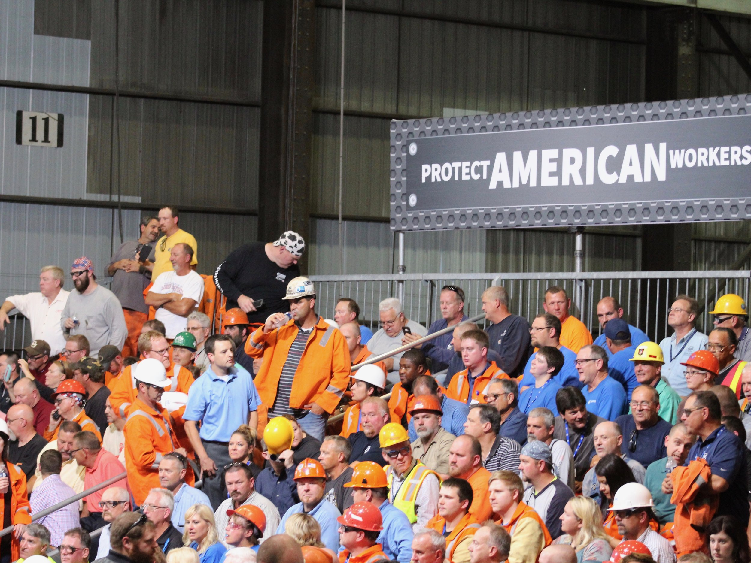 Steelworkers at the U.S. Steel Granite City Works. (One Illinois/Ted Cox)