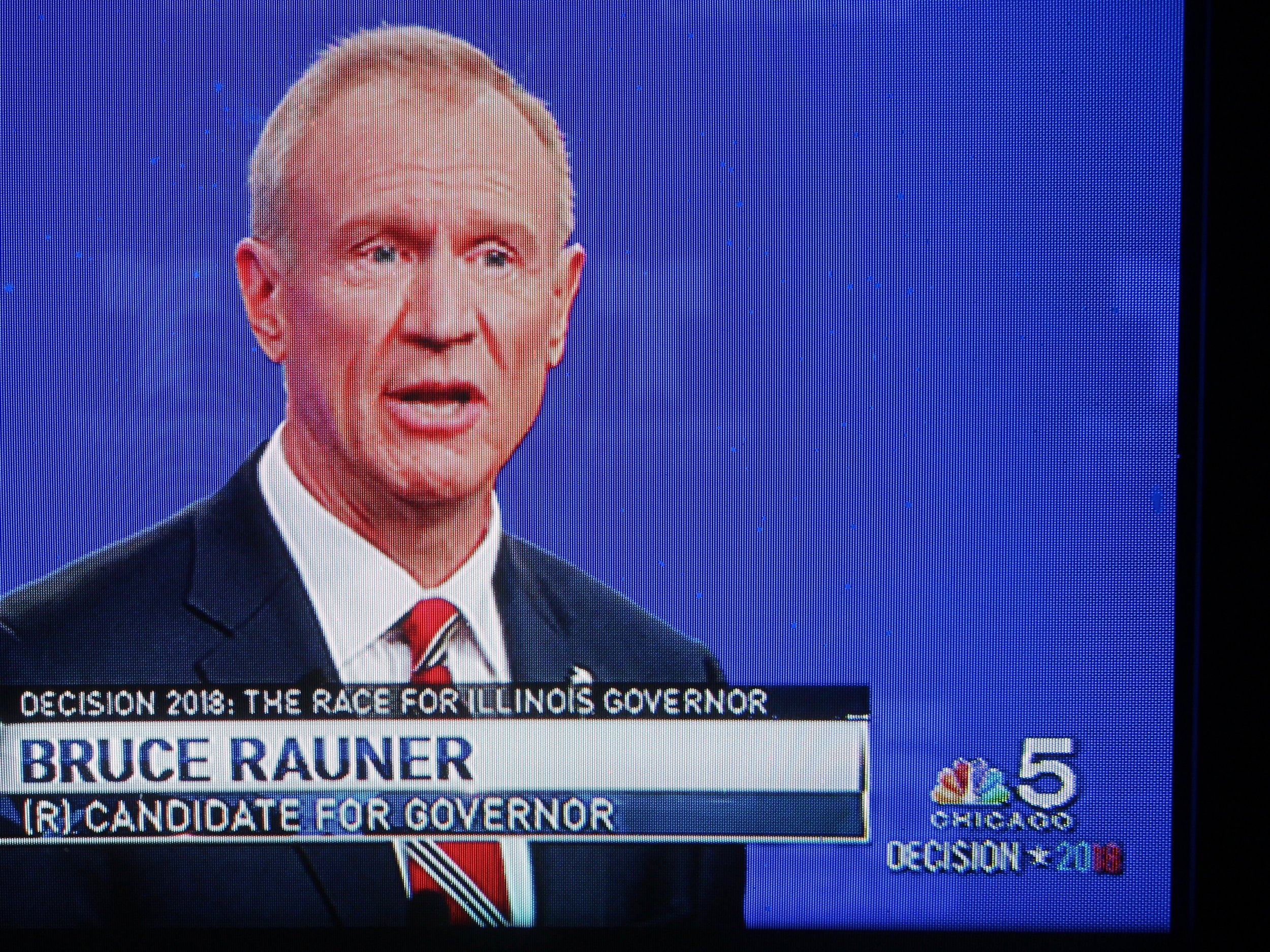 """""""it's easy for you to sit on the sidelines and criticize when you haven't done an honest day's work in your life."""" - Gov. Bruce Rauner (WMAQ-TV)"""