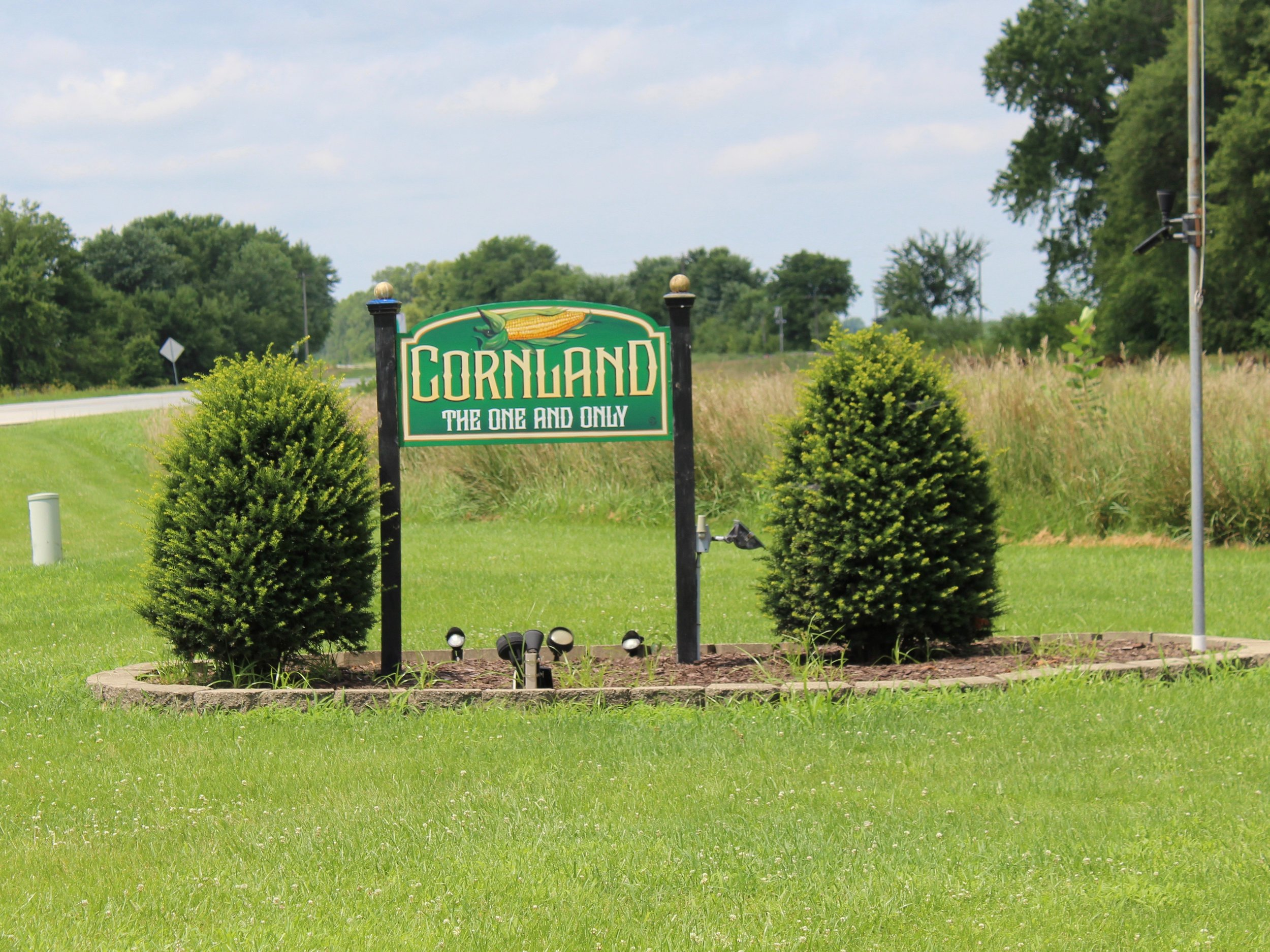 Cornland is in central Illinois in unincorporated Logan County. Corn farmers are cheering a new trade deal with Canada and Mexico. (One Illinois/Ted Cox)