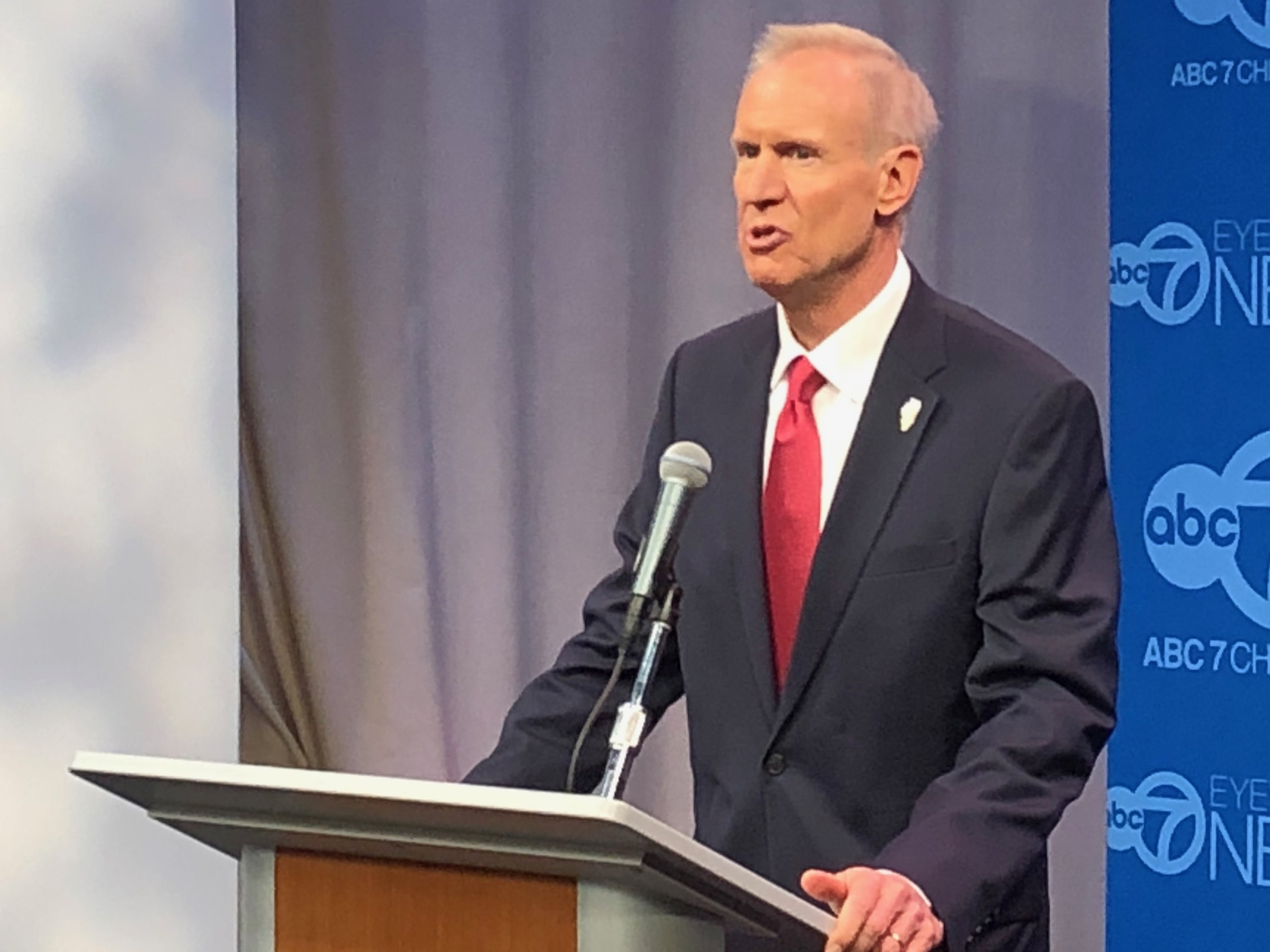 """It's a green light to raise taxes on everyone."" - Gov. Bruce Rauner on a graduated tax system"