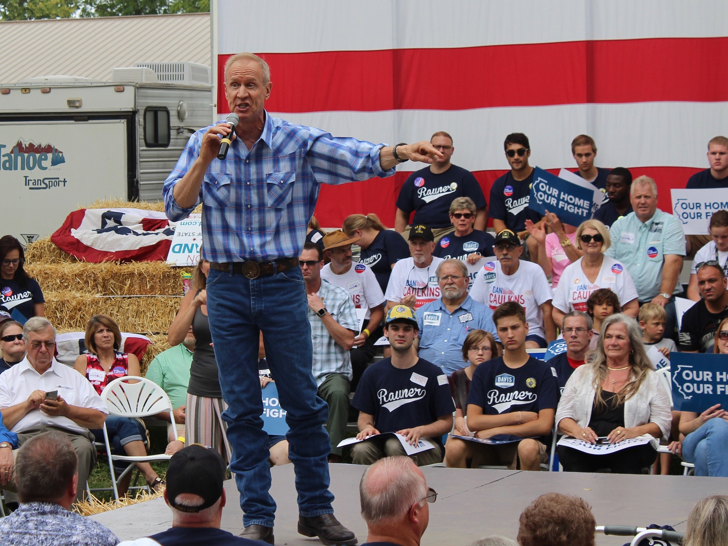 Gov. Rauner has used public unions and their pensions as a political whipping boy, but that didn't stop his former private equity firm from profiting off them. (One Illinois/Ted Cox)
