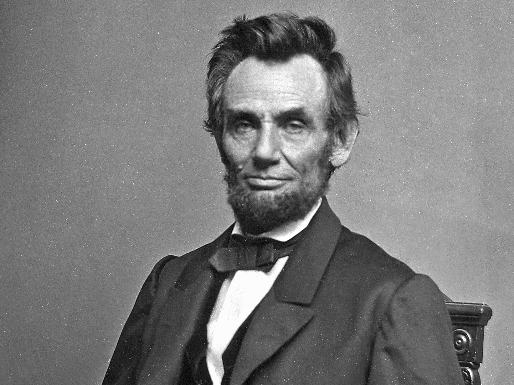 Matthew Brady's 1864 portrait of Abraham Lincoln, the clear choice as Illinois's greatest leader. (National Archive)