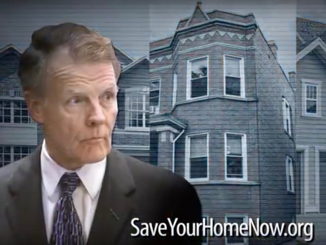A screen shot from a SaveYourHomeNow.org TV ad. (YouTube)