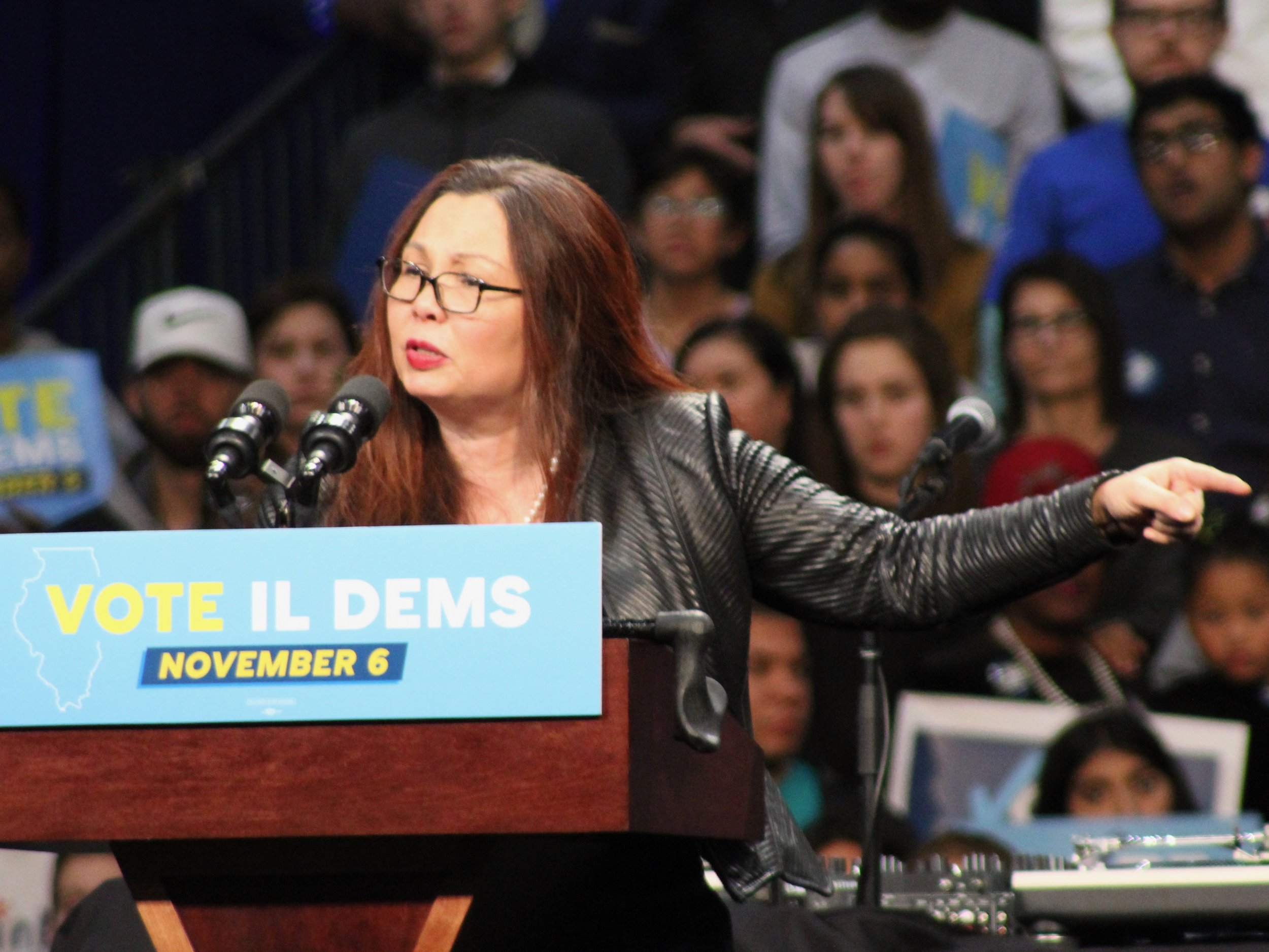 U.S. Sen. Tammy Duckworth questions the mission of U.S. troops being deployed to the Mexican border. (One Illinois/Ted Cox)