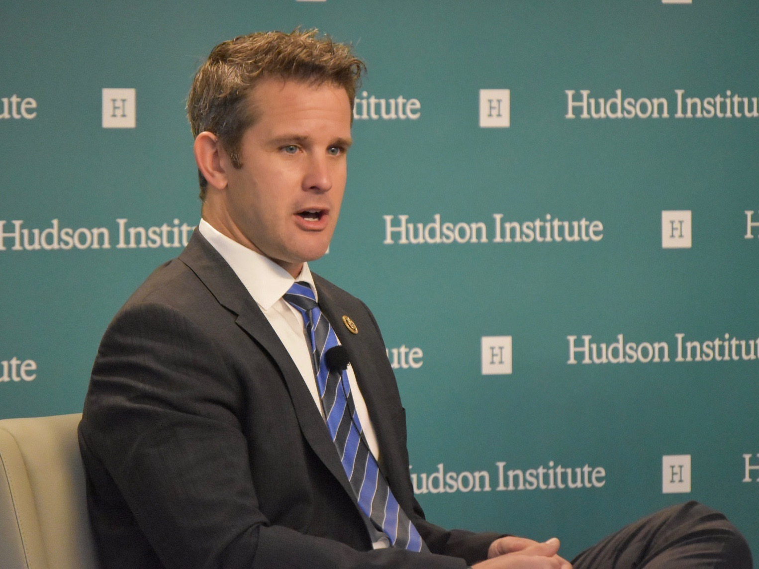 "U.S. Rep. Adam Kinzinger diminishes the Saudi murder of Washington Post columnist Jamal Khashoggi, saying, ""It's not a sinless world out there."" (Tumblr/Hudson Institute)"