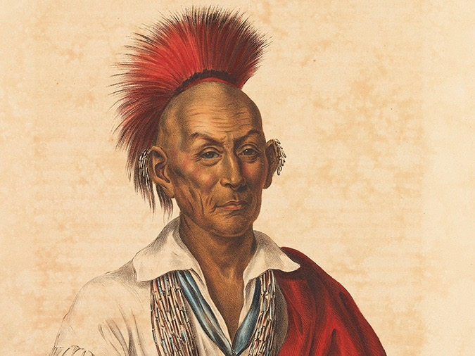Black Hawk as portrayed in a print performed during his lifetime.