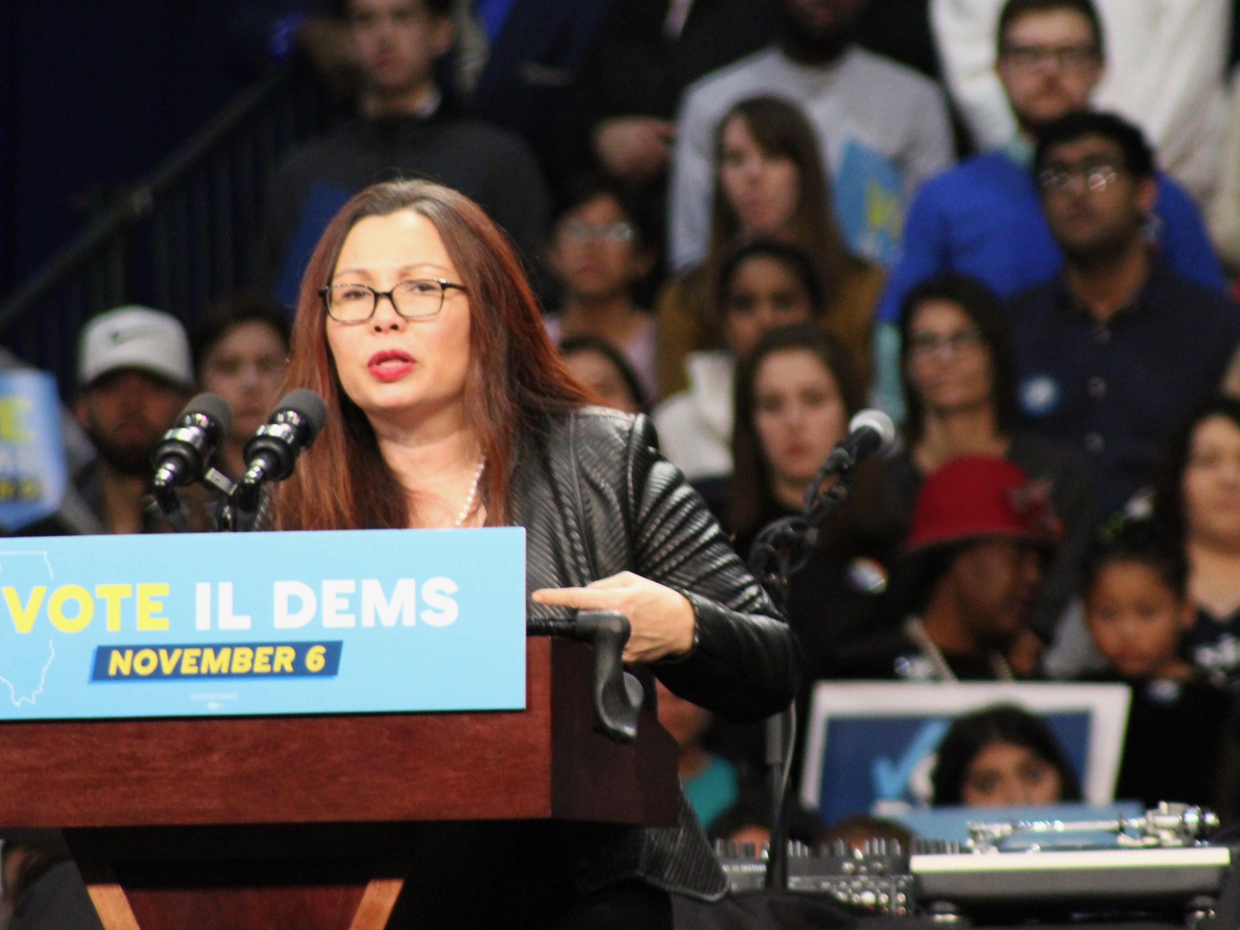 U.S. Sen. Tammy Duckworth grilled EPA nominee Andrew Wheeler Wednesday in Senate confirmation hearings. (One Illinois/Ted Cox)