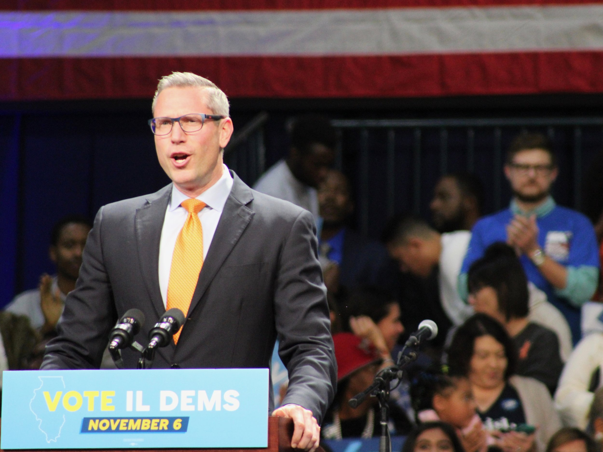 """The president shut down the federal government and threatened the livelihood of thousands of families in Illinois to play political games."" - Treasurer Michael Frerichs (One Illinois/Ted Cox)"