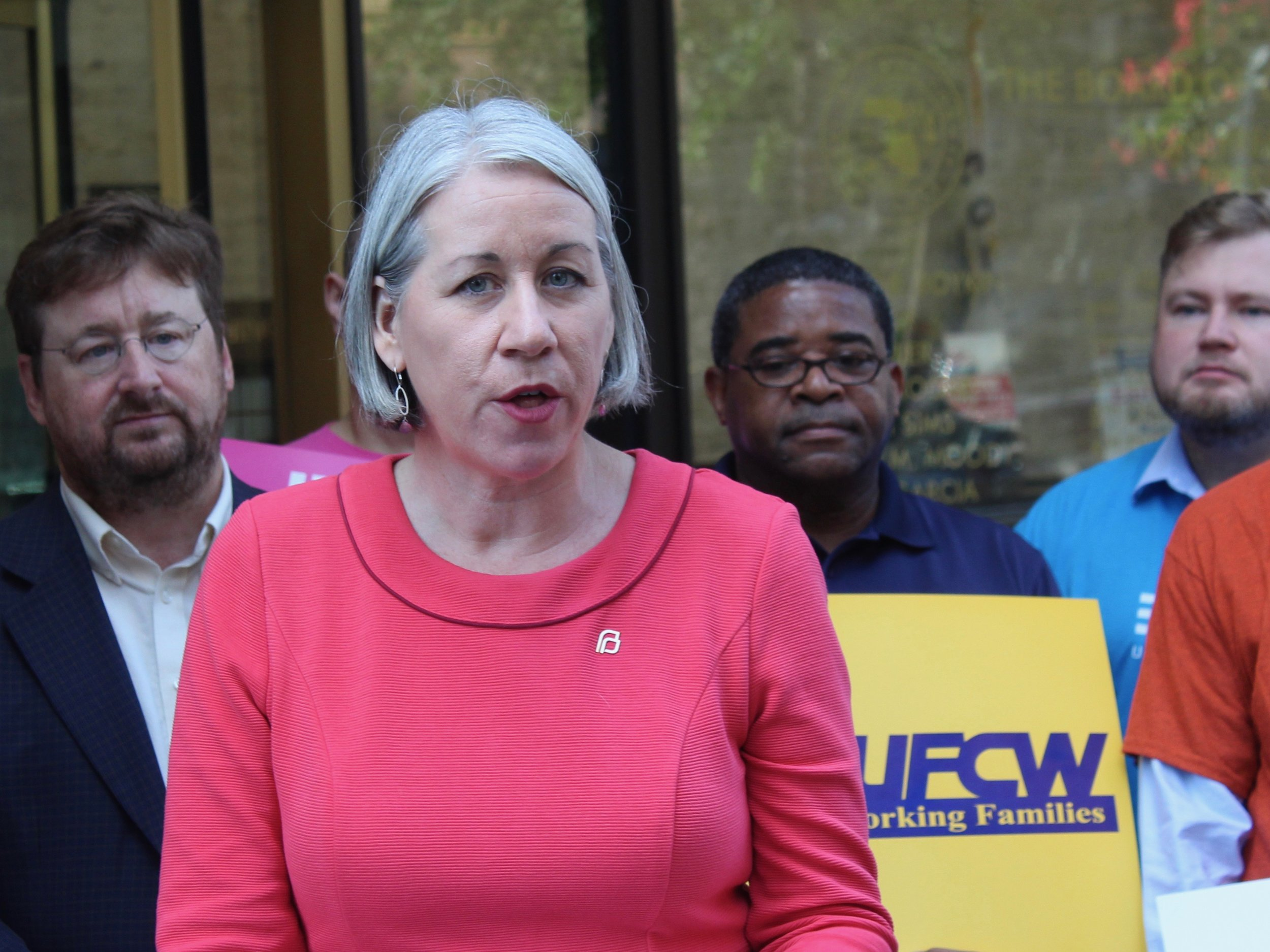 """""""The lawsuit argues that the gag rule is illegal. (It) is about fighting for our patients' health and rights."""" - Jennifer Welch, president of Planned Parenthood of Illinois (One Illinois/Ted Cox)"""