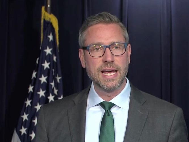 State Treasurer Michael Frerichs is leading calls to free banks to handle money earned from legal cannabis. (BlueRoomStream)
