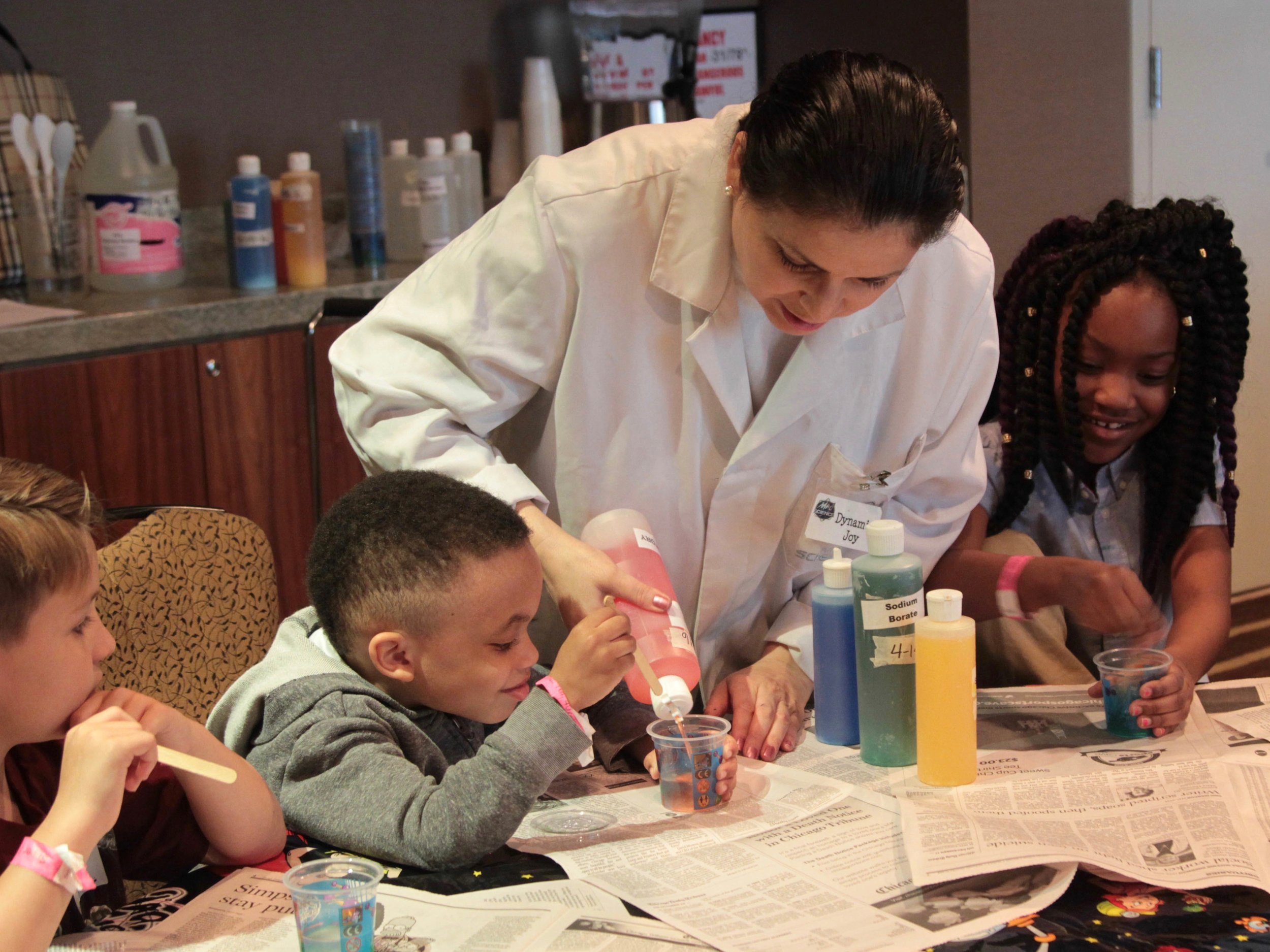 Children receive care as part of a 2016 Army training session in Chicago. (U.S. Army Reserve/Maj. Michael Garcia)