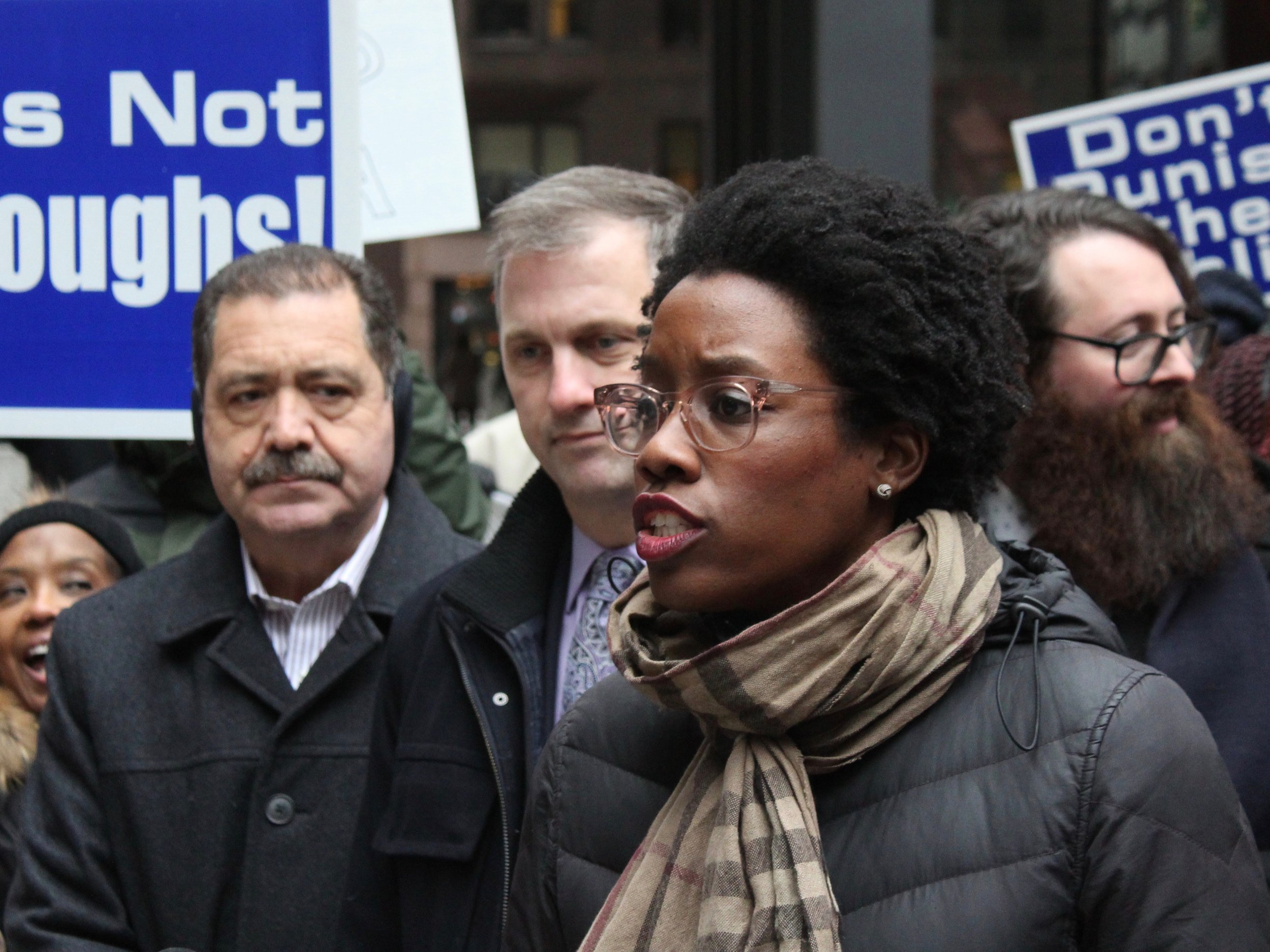 U.S. Rep. Lauren Underwood, a former nurse, joined other members of the Illinois congressional delegation in urging alternatives to the use of carcinogenic ethylene oxide in sterilizing medical supplies. (One Illinois/Ted Cox)