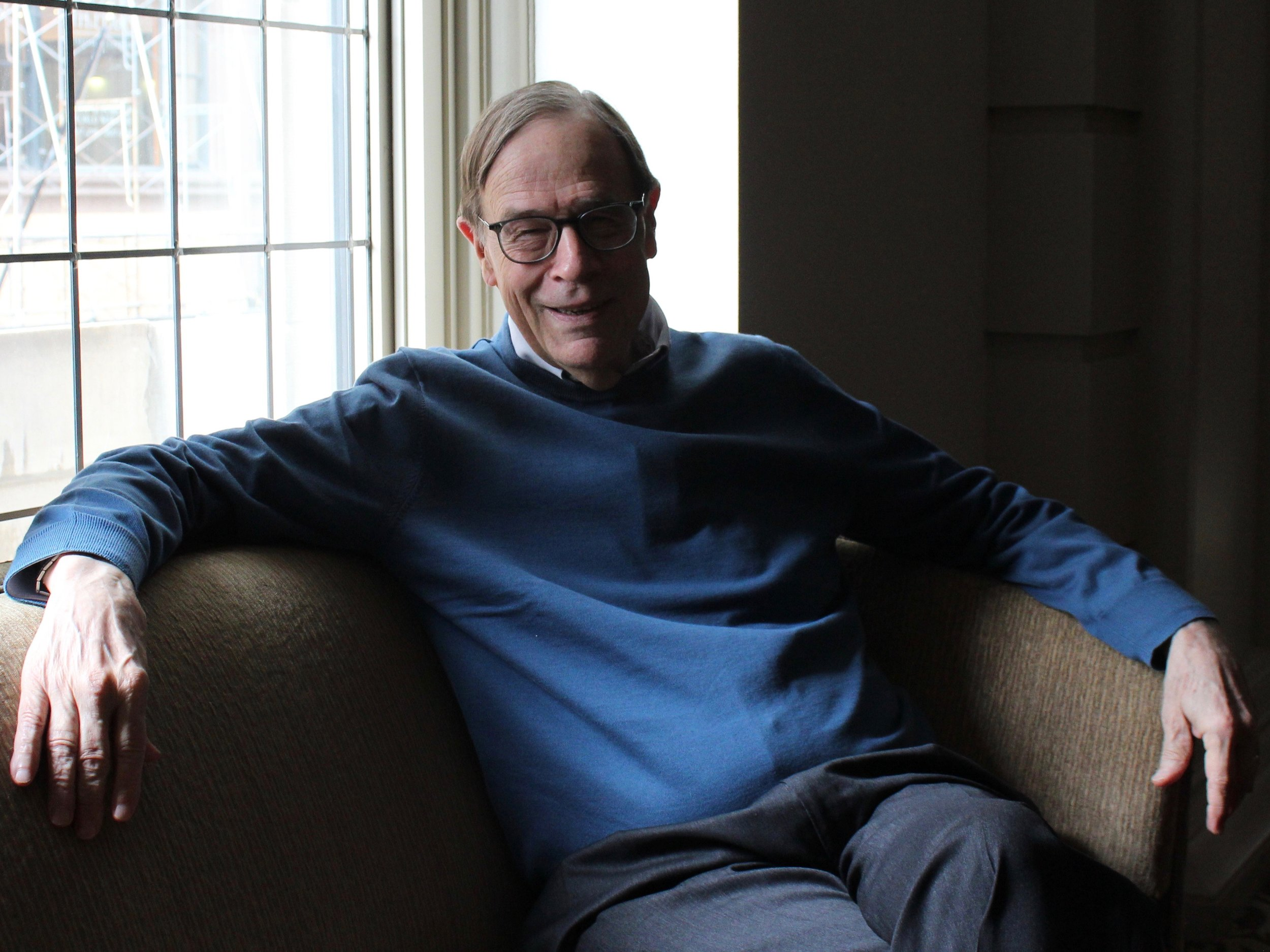 Rev. Alexander E. Sharp sits for an interview at the University Club in Chicago. (One Illinois/Ted Cox)