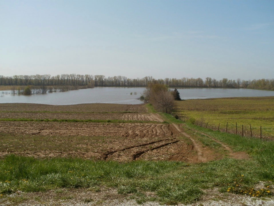 Brown County soybean fields lie flooded in a file photo from earlier in the decade. (USDA)