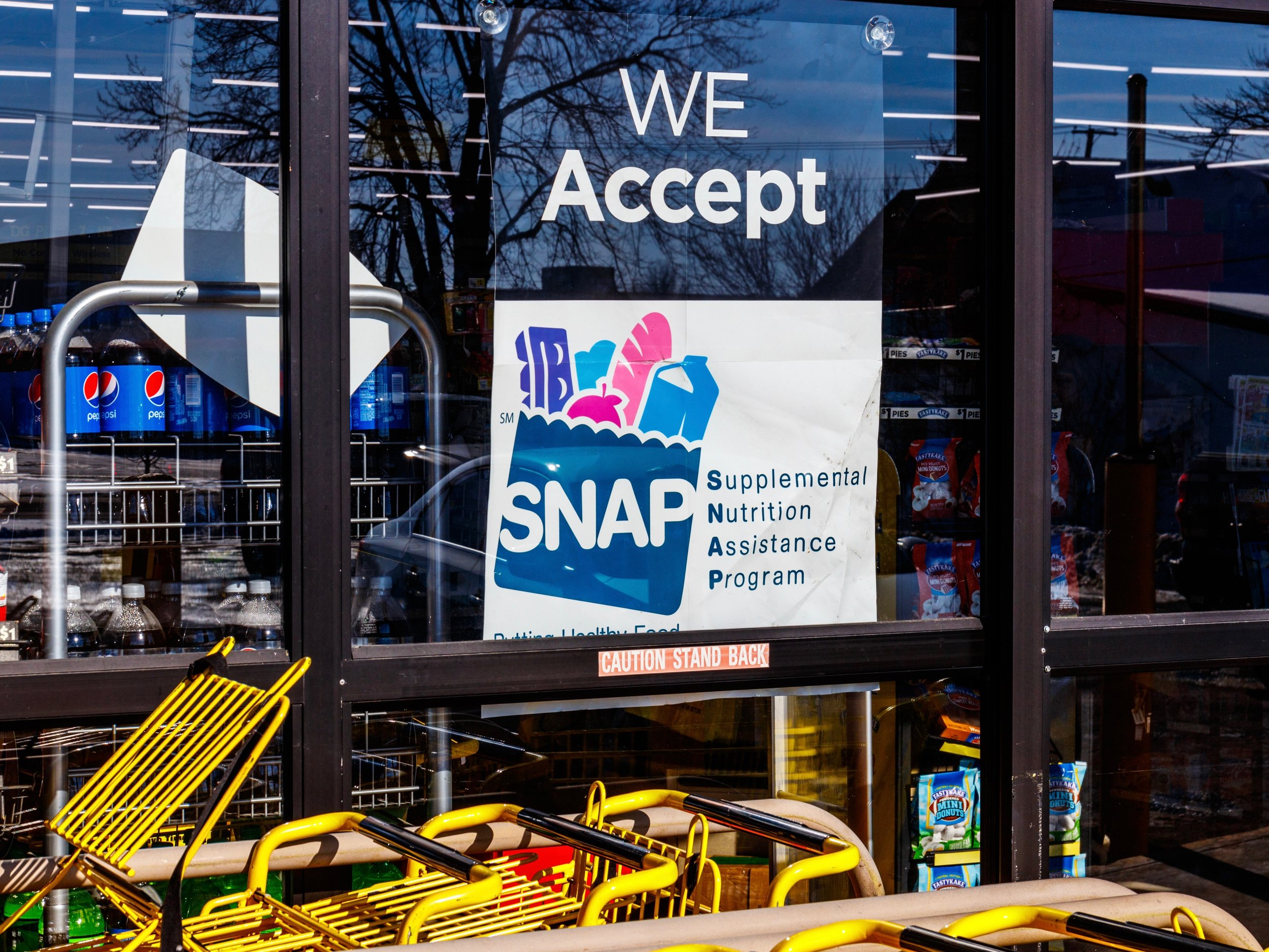 Increased government spending on food stamps has a strong impact on local businesses, especially in rural areas. (Shutterstock)