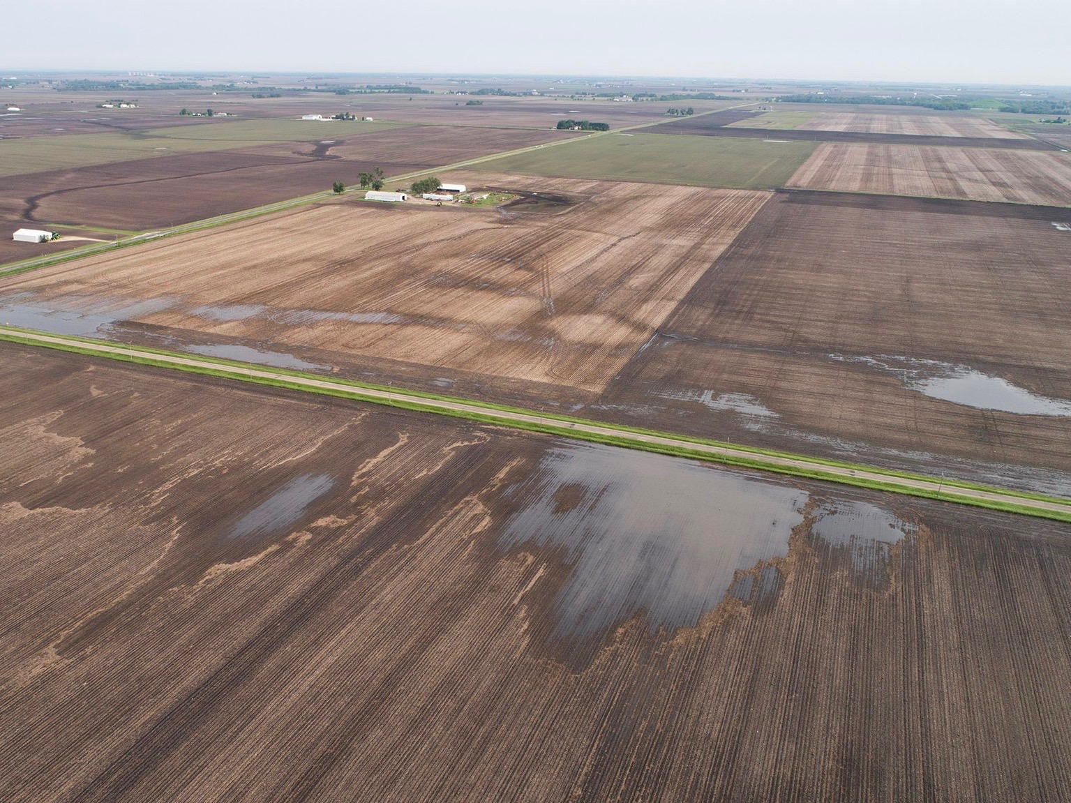 Many Illinois farms remain flooded, and farmers are weighing their options for a lost crop. (Twitter/Illinois Farm Bureau)