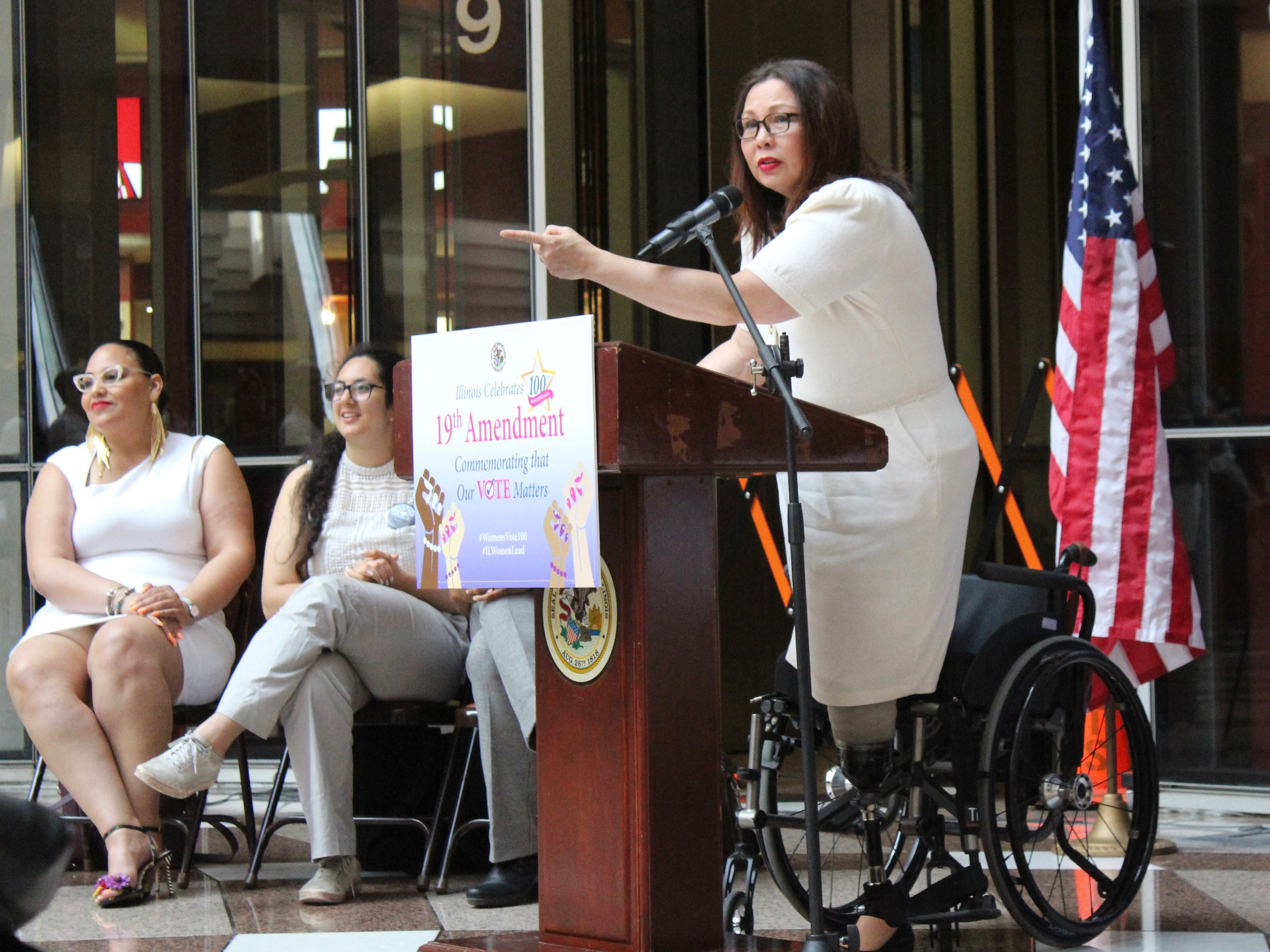 U.S. Sen. Tammy Duckworth won concessions from the Trump administration on Amtrak service in Illinois. (Ted Cox/One Illinois)