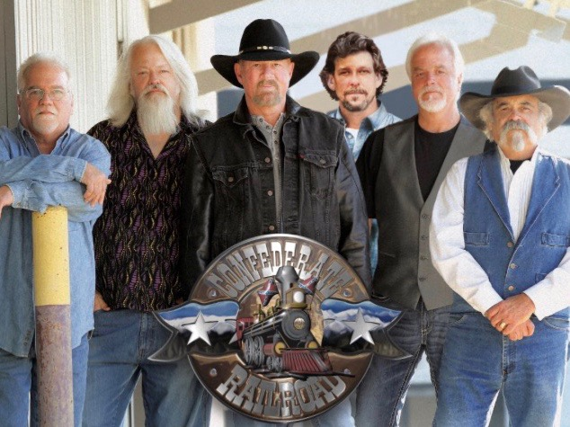The country group Confederate Railroad has been banned from Illinois state-sponsored events over the use of Confederate flags in its logo. (Confederate Railroad)
