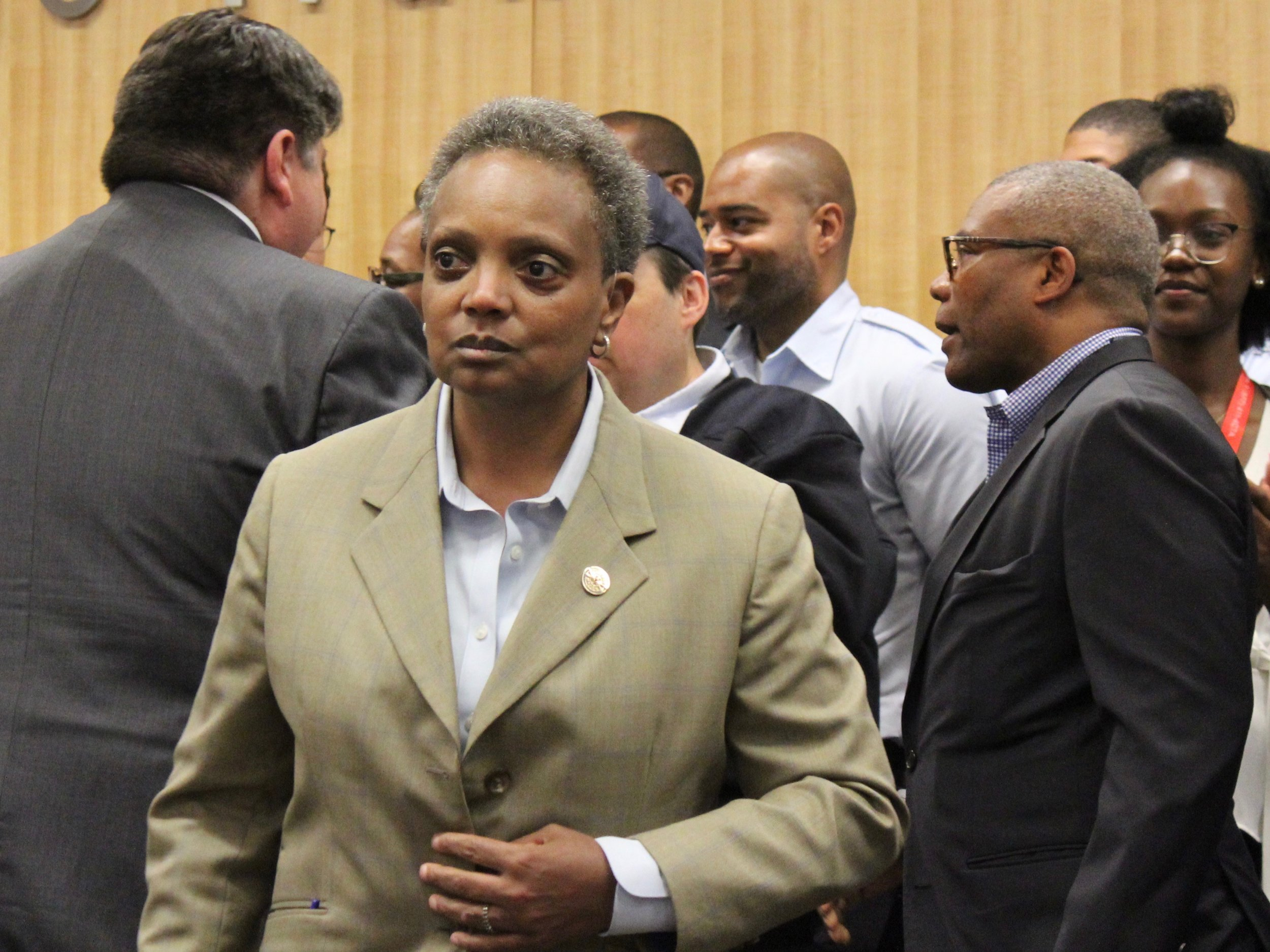 Chicago Mayor Lori Lightfoot has sent an open letter to President Trump criticizing his policy on immigration issues. (One Illinois/Ted Cox)