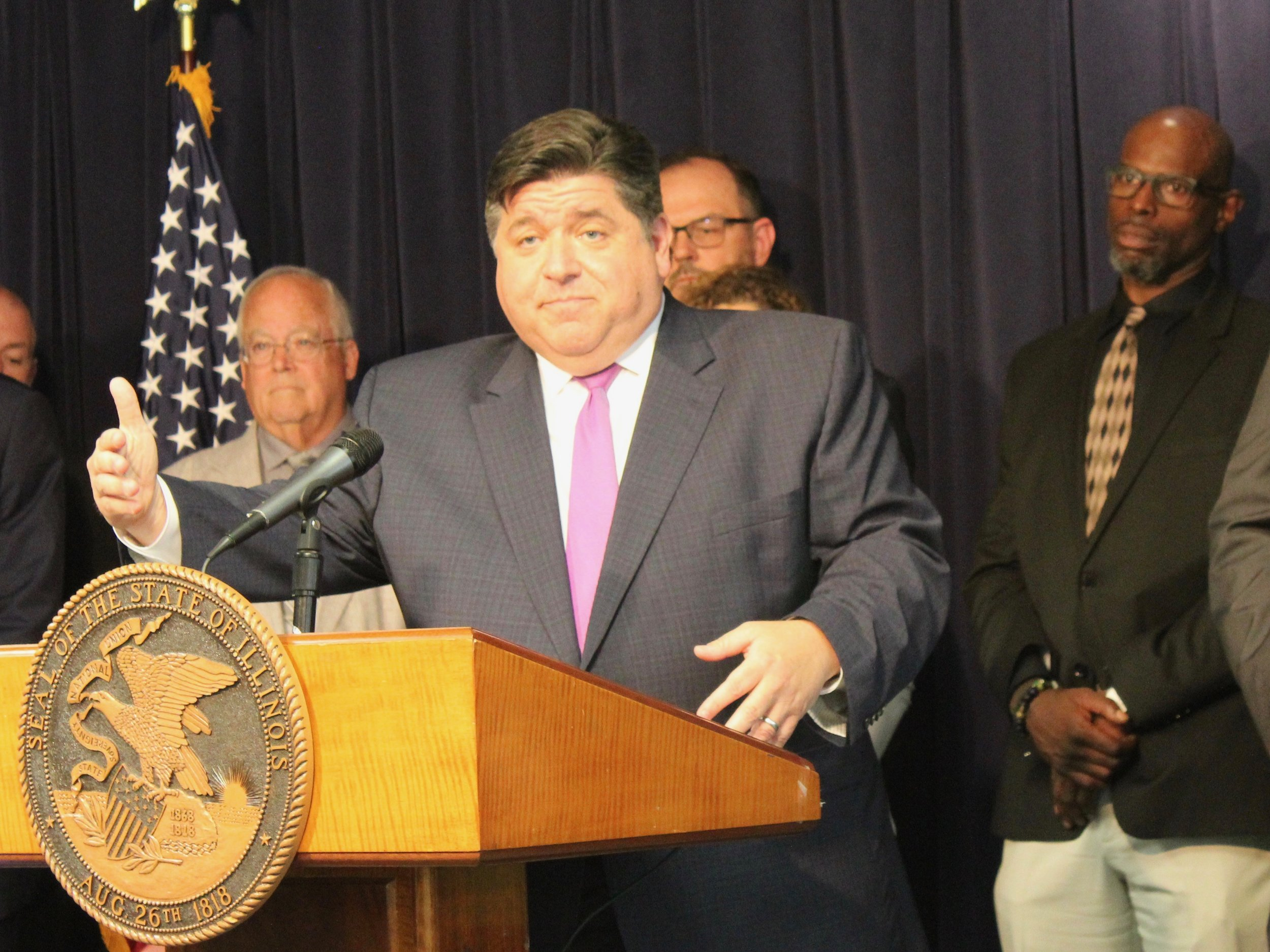 "Gov. Pritzker has created a task force to address reforms on property taxes, believed critical to passing his ""fair tax"" next year. (One Illinois/Ted Cox)"