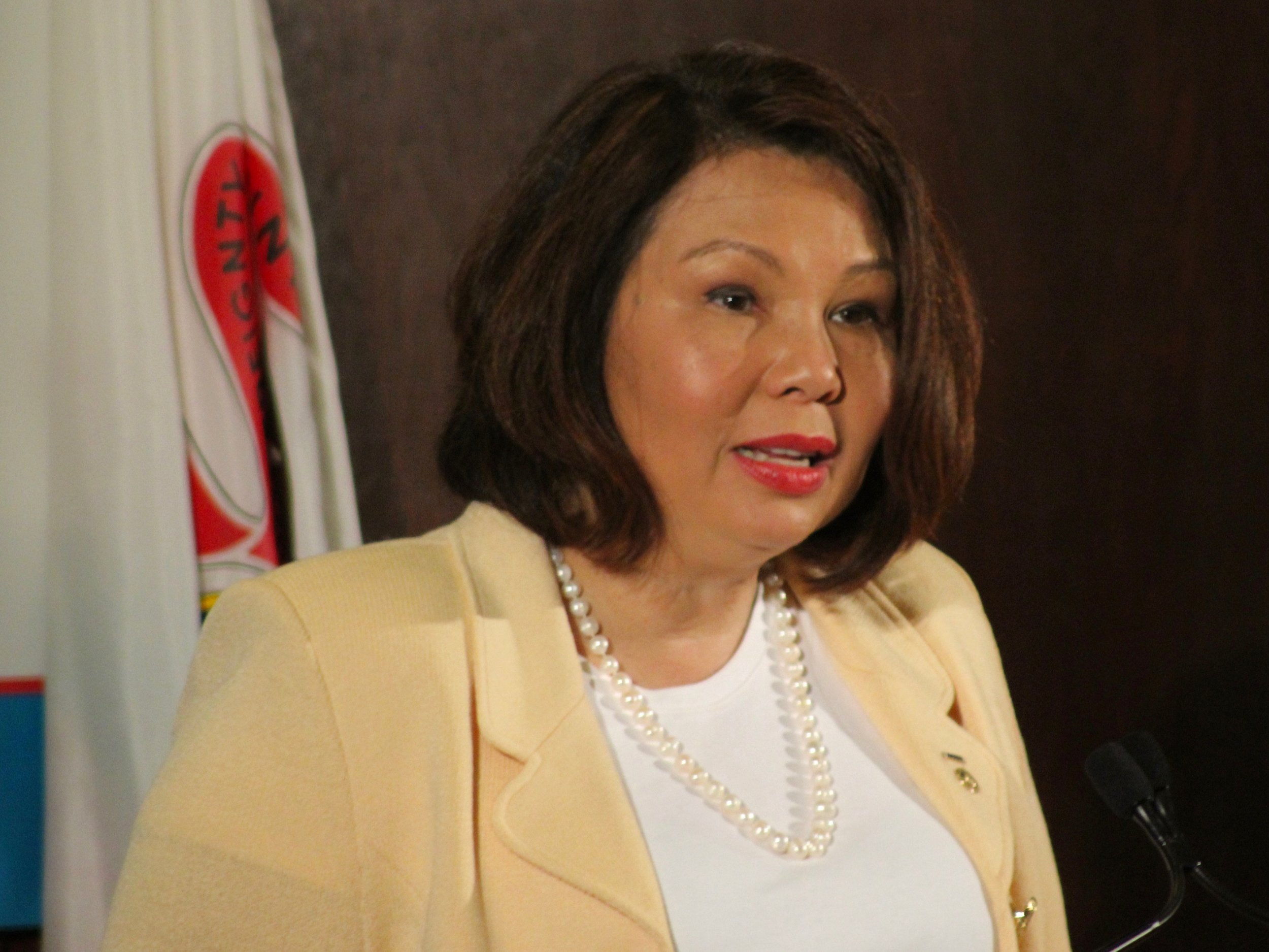 Sen. Tammy Duckworth said the issues of infrastructure and national security are linked to education and health care in a speech Wednesday at the City Club of Chicago. (One Illinois/Ted Cox)