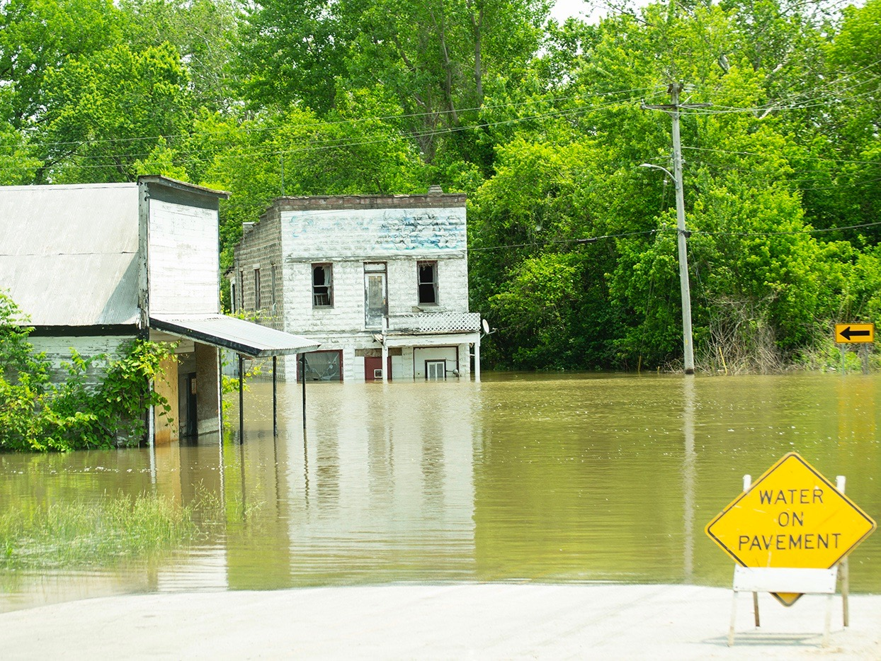 Flooding hits Valley City earlier this year. (Illinois National Guard/Barbara Wilson)