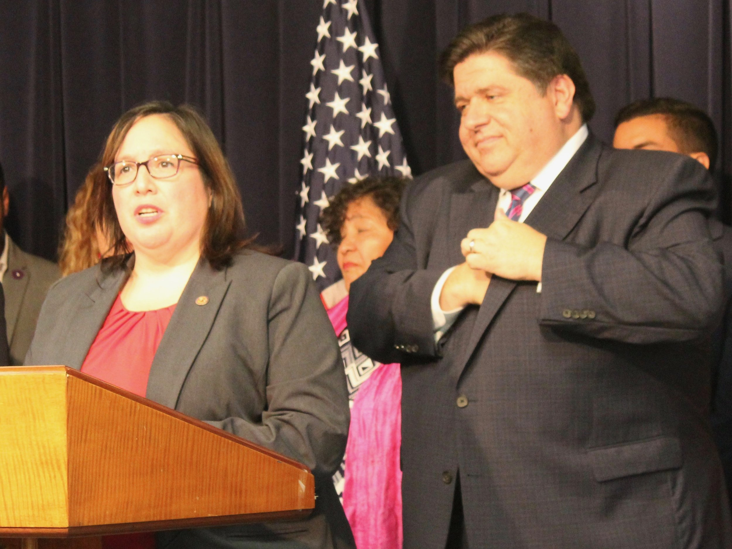 """""""This is essentially a form of blackmail. Quite frankly, it's a shame that this sort of thing even needs to be legislated against."""" - Sen. Cristina Castro (One Illinois/Ted Cox)"""