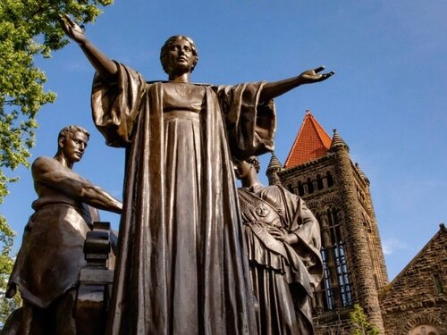 The Alma Mater at the University of Illinois at Urbana-Champaign welcomed a record 51,196 students this fall. (Twitter/Illinois_Alma)