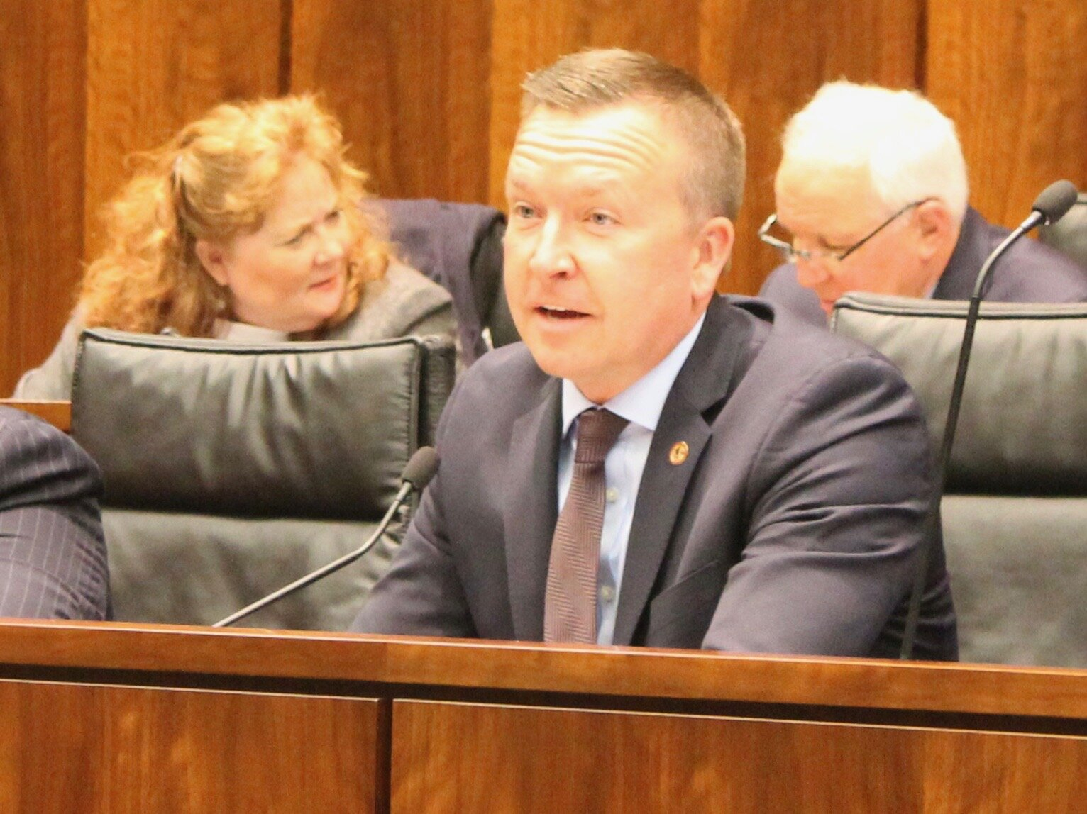 State Sen. Andy Manar is lead sponsor of a bill that would cap the out-of-pocket cost of insulin at $100 a month. (One Illinois/Ted Cox)