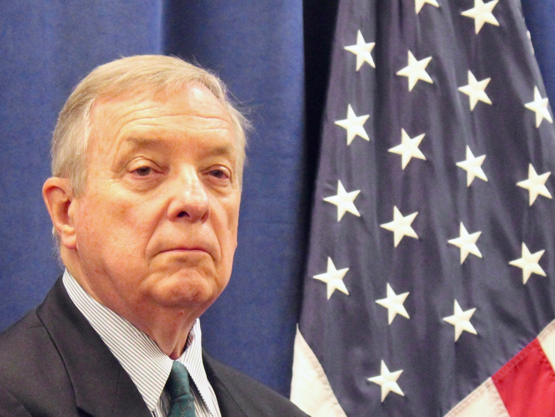 U.S. Sen. Dick Durbin is the highest-ranking member of the Senate to seek an impeachment probe into President Trump. (One Illinois/Ted Cox)
