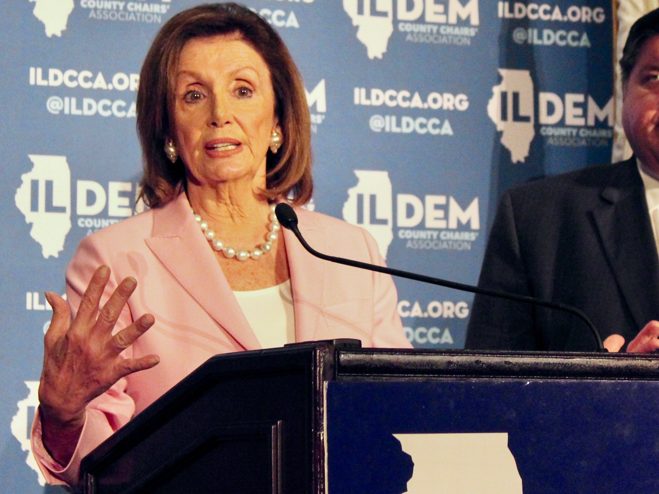"""""""The actions taken to date by the president have seriously violated the Constitution."""" - U.S. House Speaker Nancy Pelosi (One Illinois/Ted Cox)"""