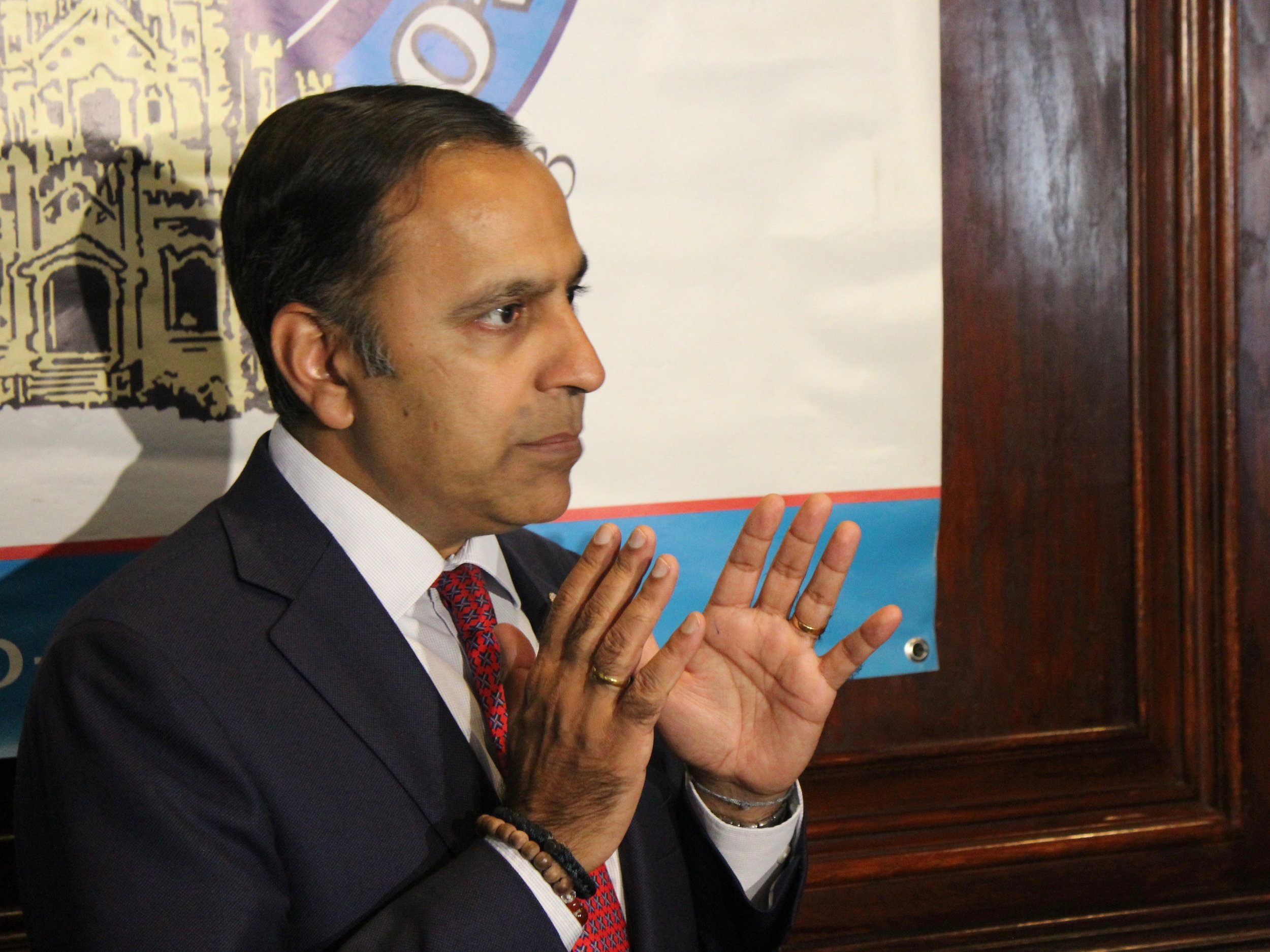 """U.S. Rep. Raja Krishnamoorthi calls for a """"thorough,"""" """"expeditious"""" impeachment inquiry into President Trump, but warns events may have to move fast to halt """"an ongoing scheme which involves compromising our national security."""" (One Illinois/Ted Cox)"""